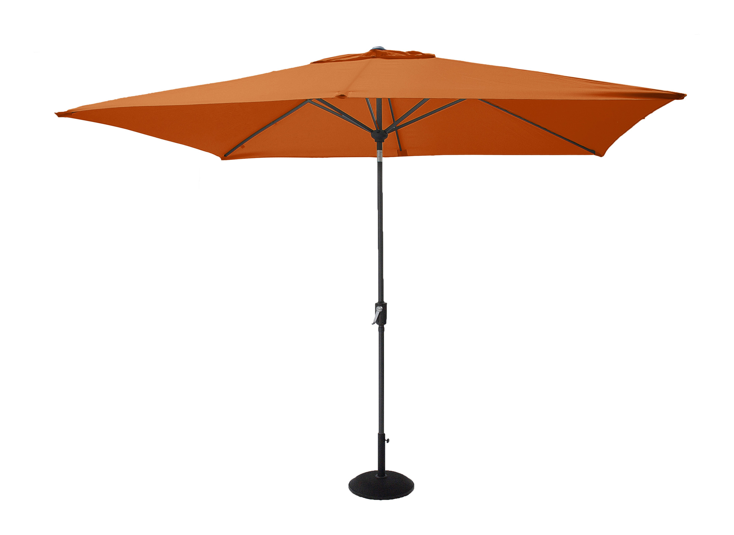 Hartman Parasol 'Solar Line' 300 x 200cm, kleur Oranje