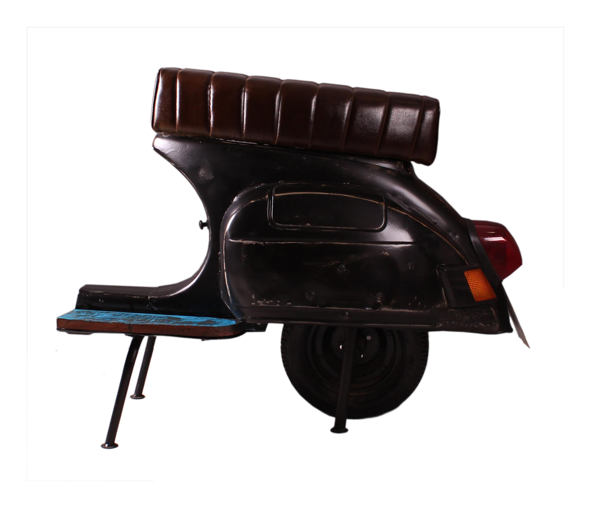 Artistiq Barkruk Scooter kleur zwart
