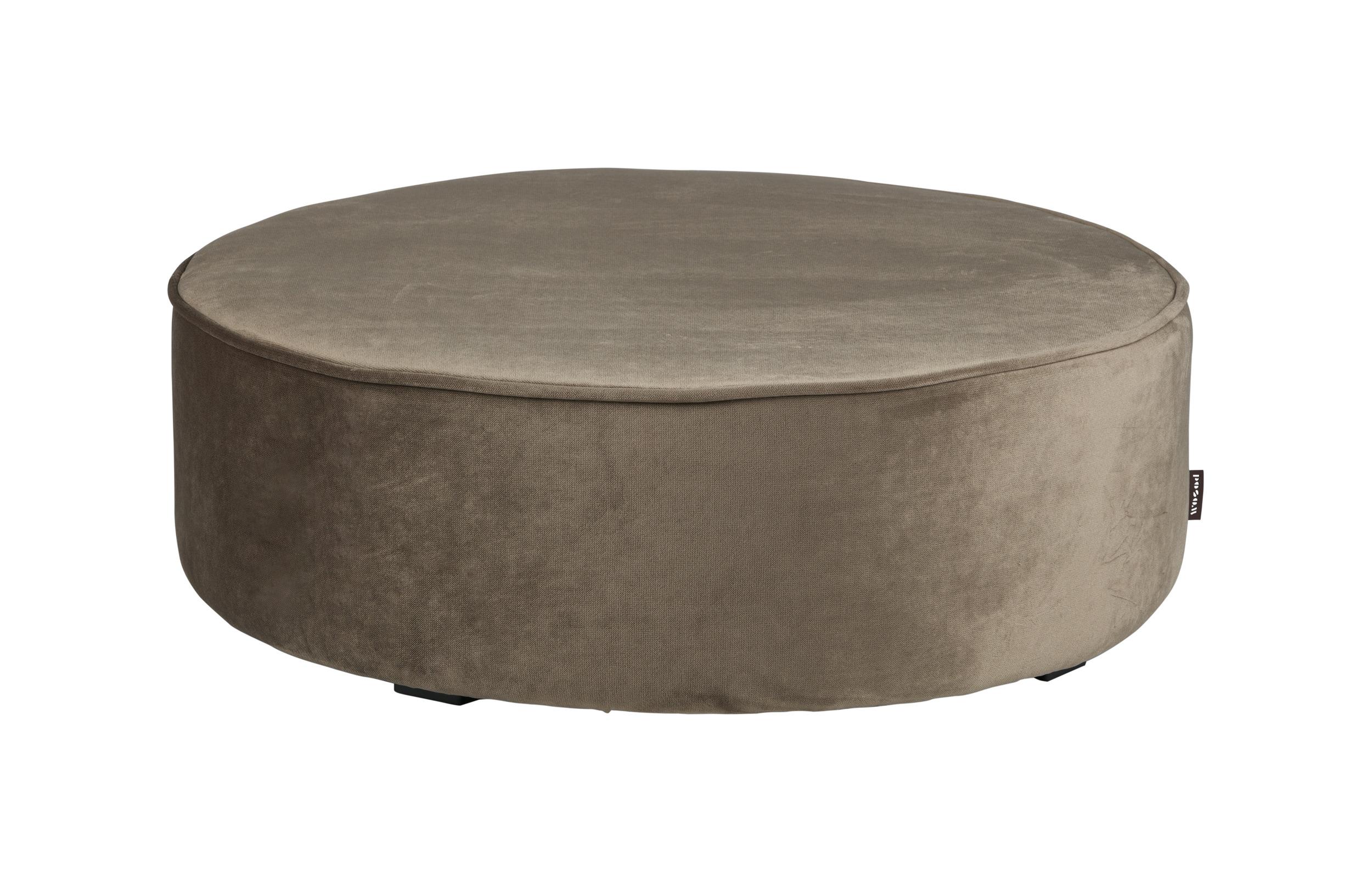 Woood Poef 'Sara' Velvet, 78cm, kleur Goud