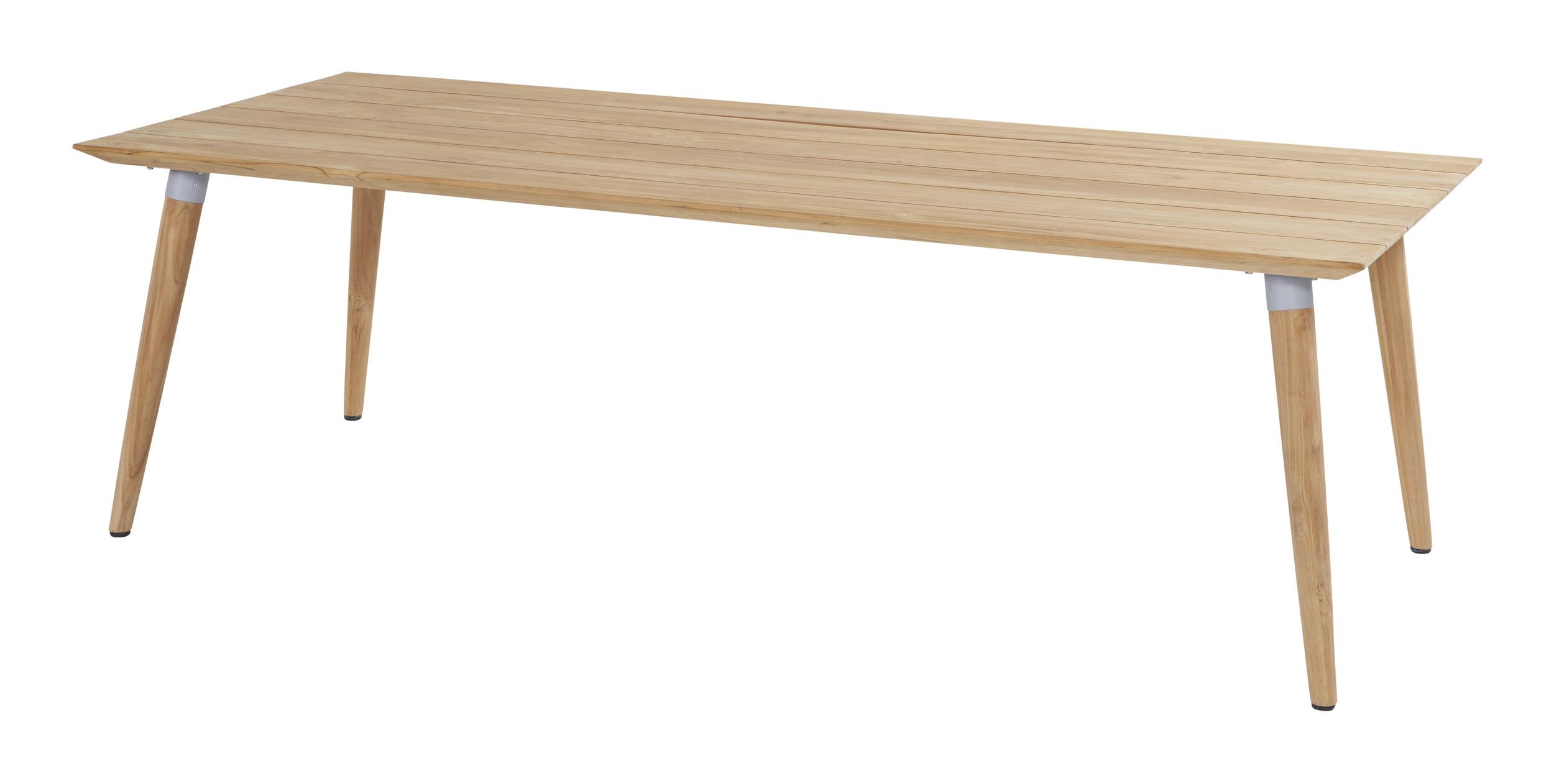 Hartman Tuintafel 'Sophie' Teak, 240 x 100cm, kleur Grijs