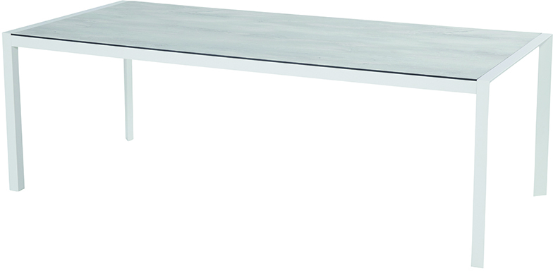Hartman Tuintafel 'California' HPL, 225 x 100, kleur Wit