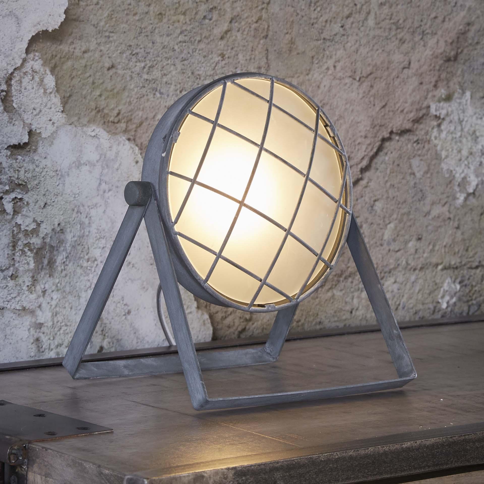 Tafellamp 'Sandrine' betonlook korting