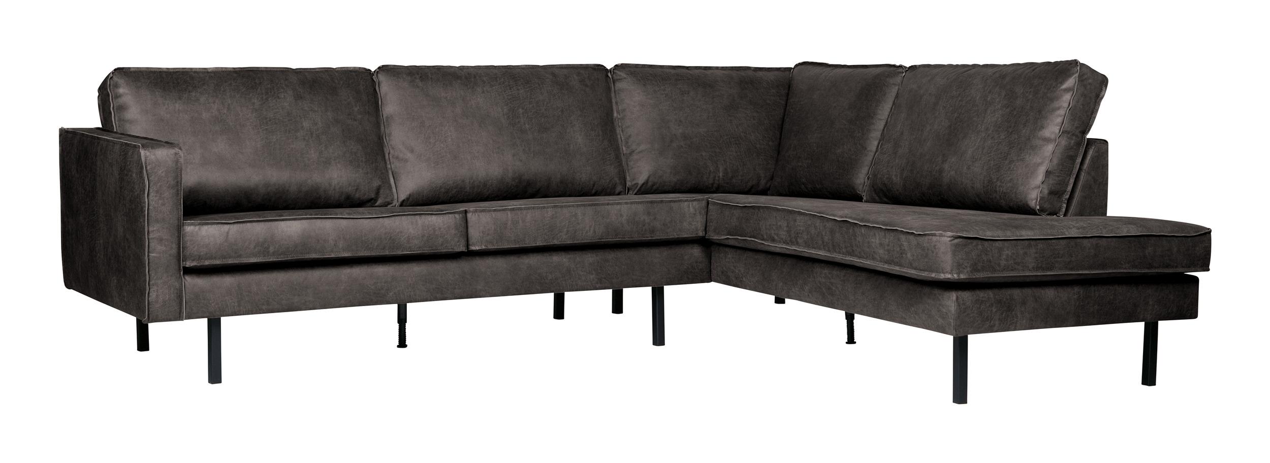 BePureHome Loungebank 'Rodeo' Rechts, kleur Zwart