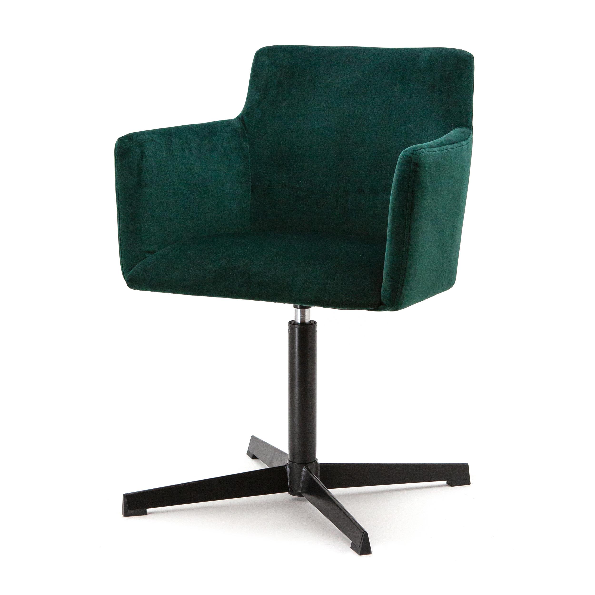 Eleonora Eetkamerstoel 'Kelvin' Velvet, kleur groen
