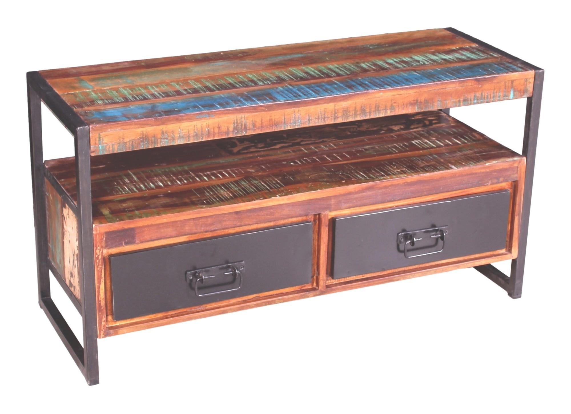 Artistiq TV-meubel 'Bali Vintage' multicolor, 107cm van Artistiq Living