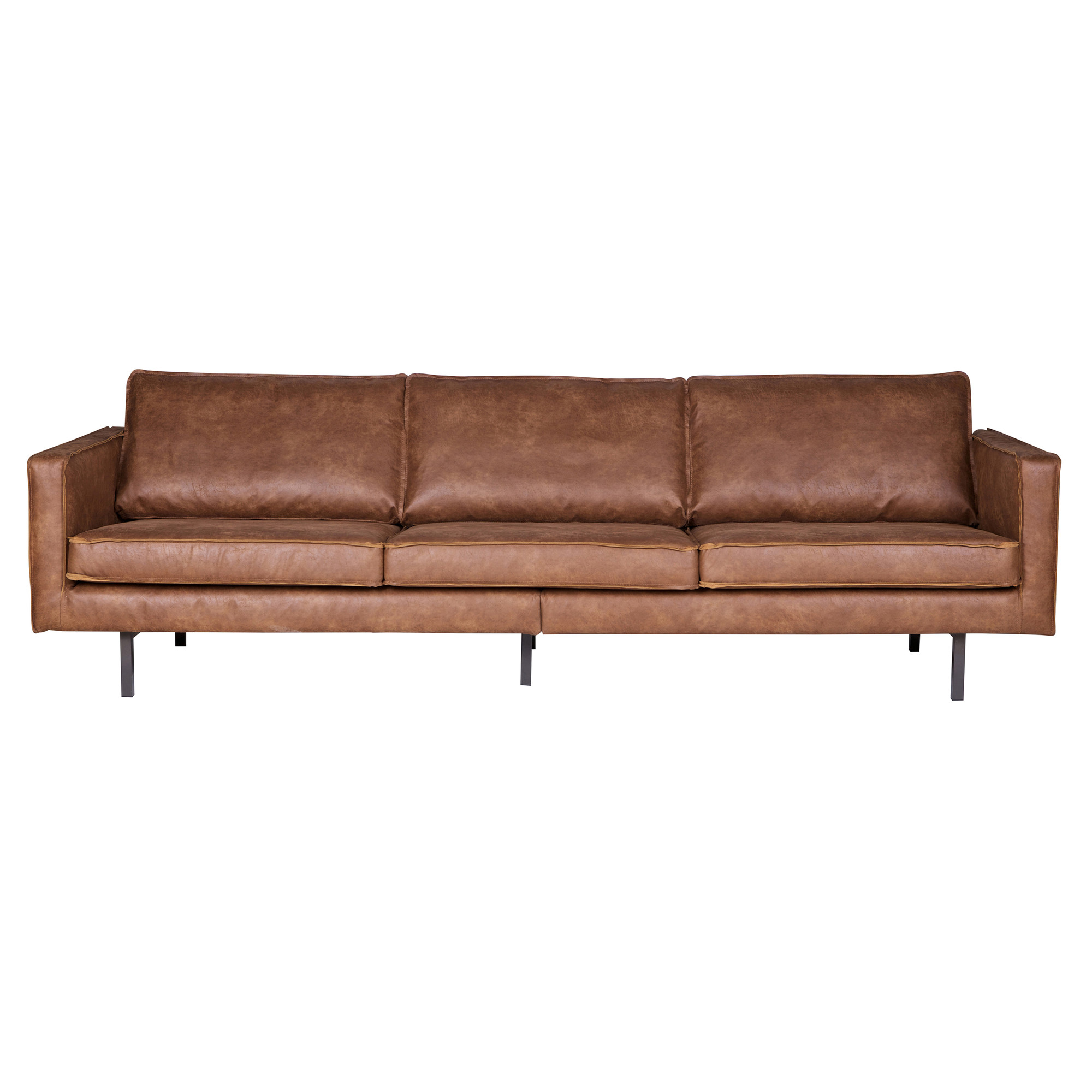 BePureHome Bank 'Rodeo' 3-zits, kleur cognac