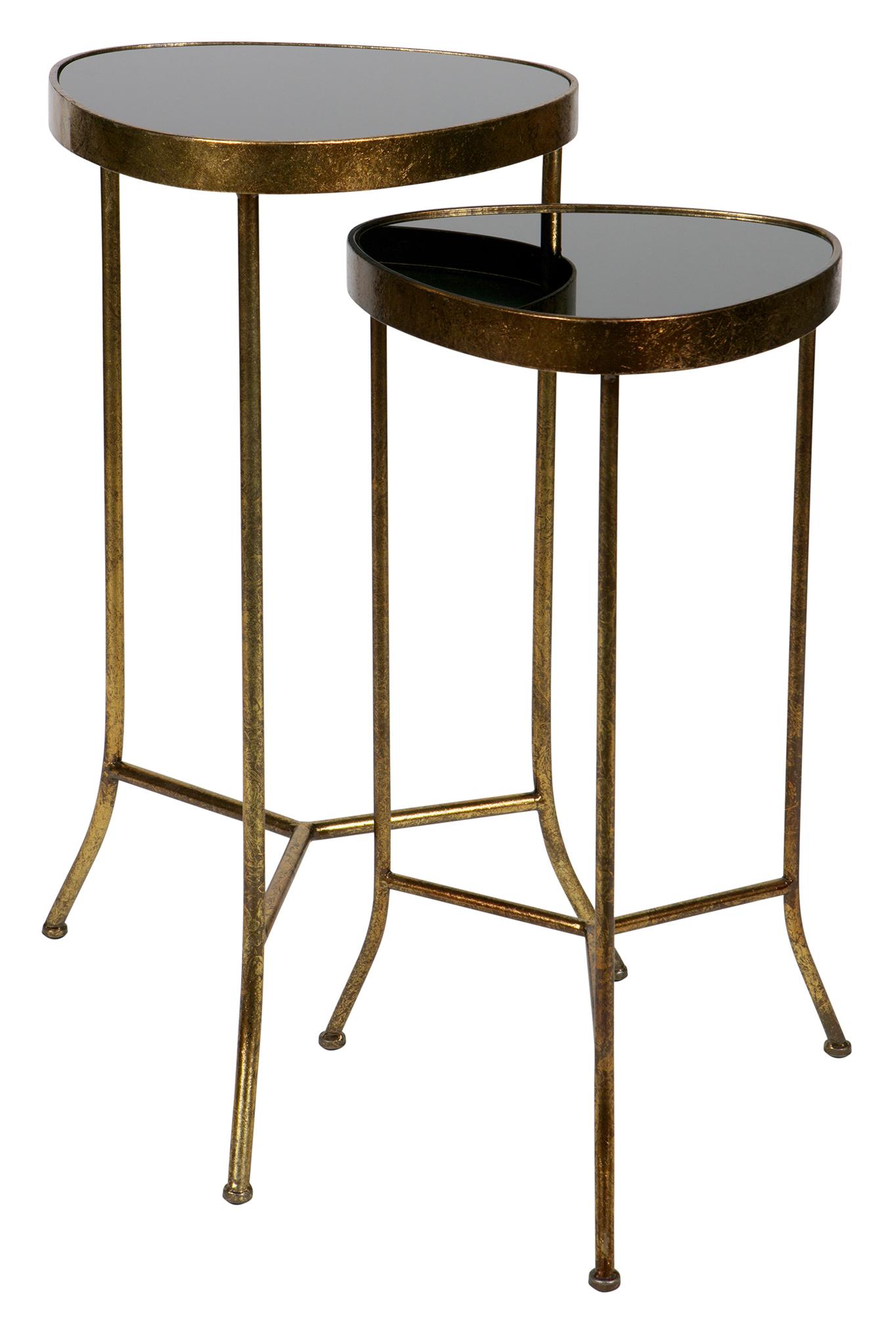 BePureHome Bijzettafel 'Couple' Set van 2 stuks, kleur Antique Brass Tafels | Bijzettafels kopen