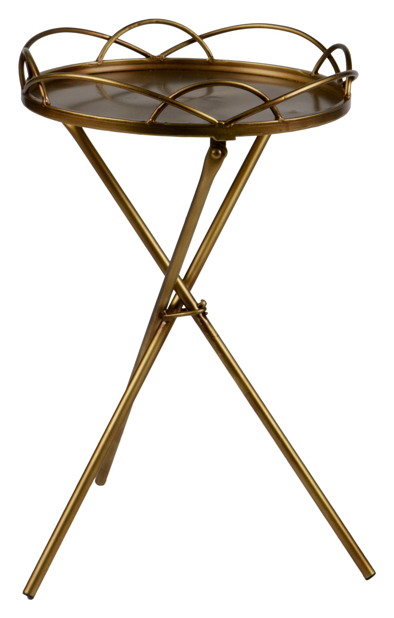 BePureHome Bijzettafel 'Filmy' 36cm, kleur Antique Brass Tafels | Bijzettafels kopen