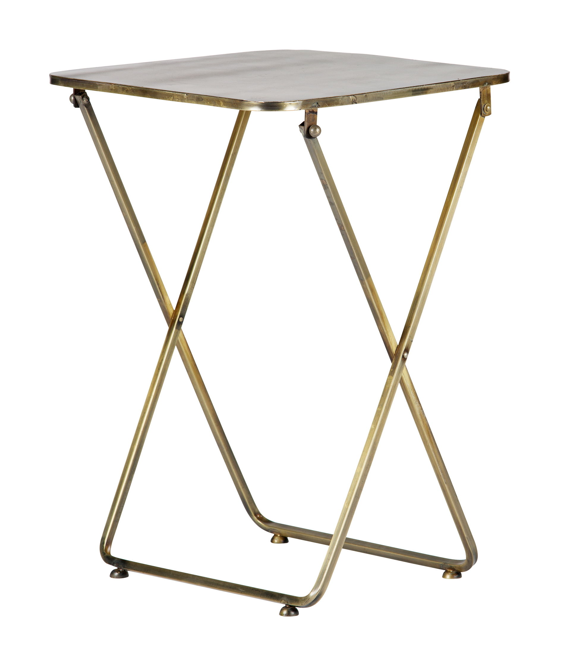 BePureHome Bijzettafel 'Foldaway' 46cm, kleur Antique Brass Tafels | Bijzettafels kopen