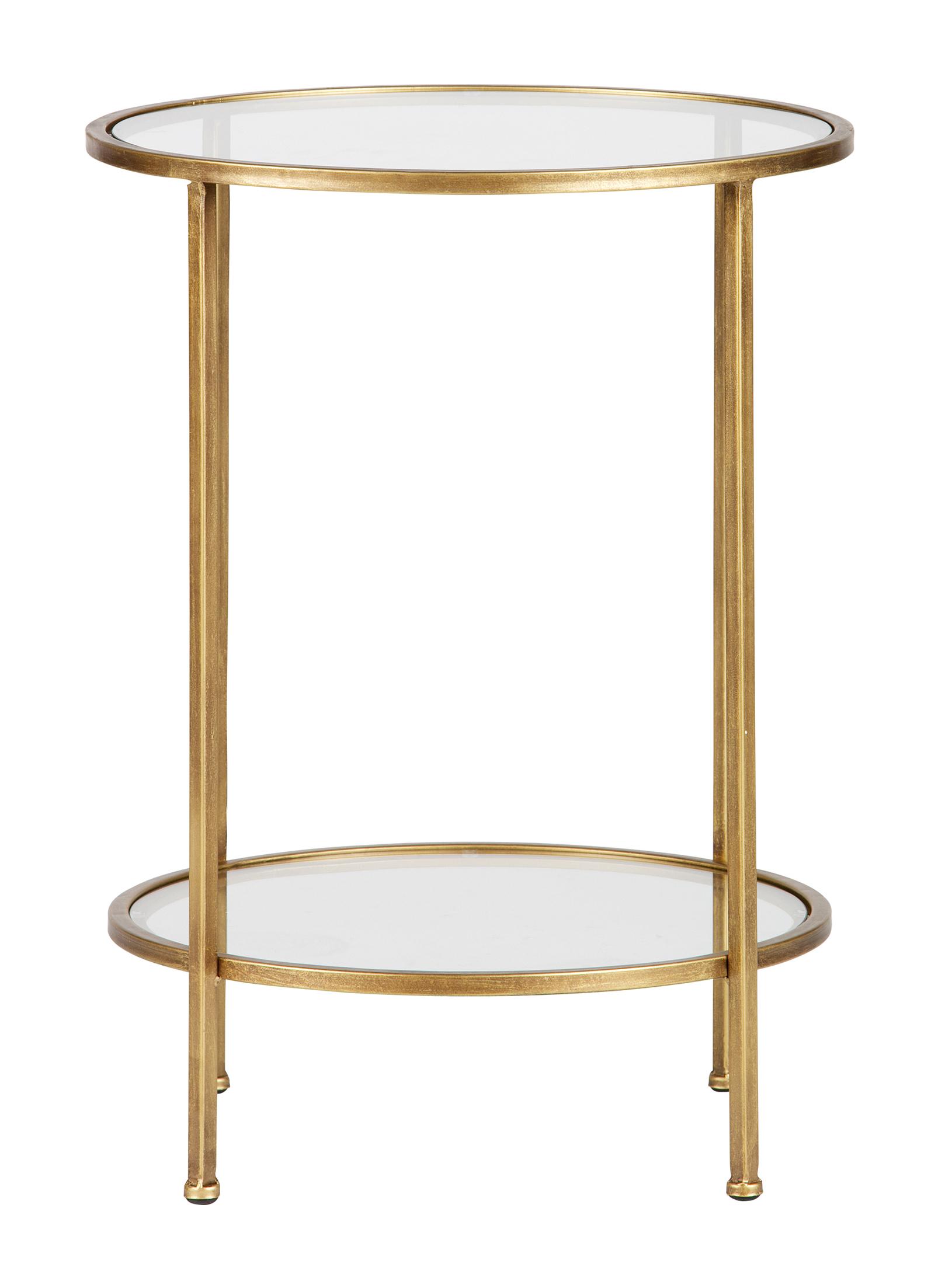 BePureHome Bijzettafel 'Goddess' 45,5cm, kleur Antique Brass Tafels | Bijzettafels kopen