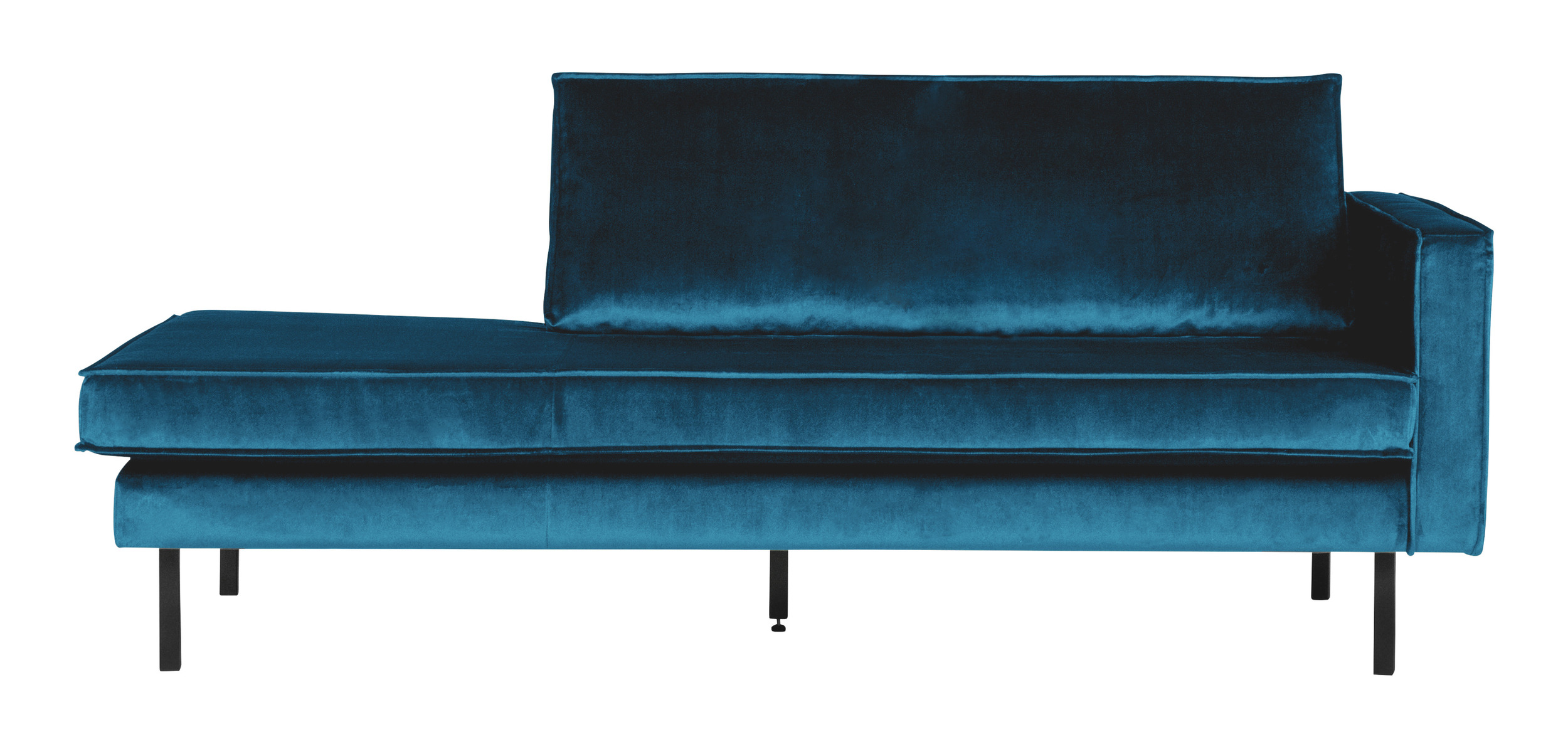 BePureHome Daybed 'Rodeo' Rechts, Velvet, kleur Blauw