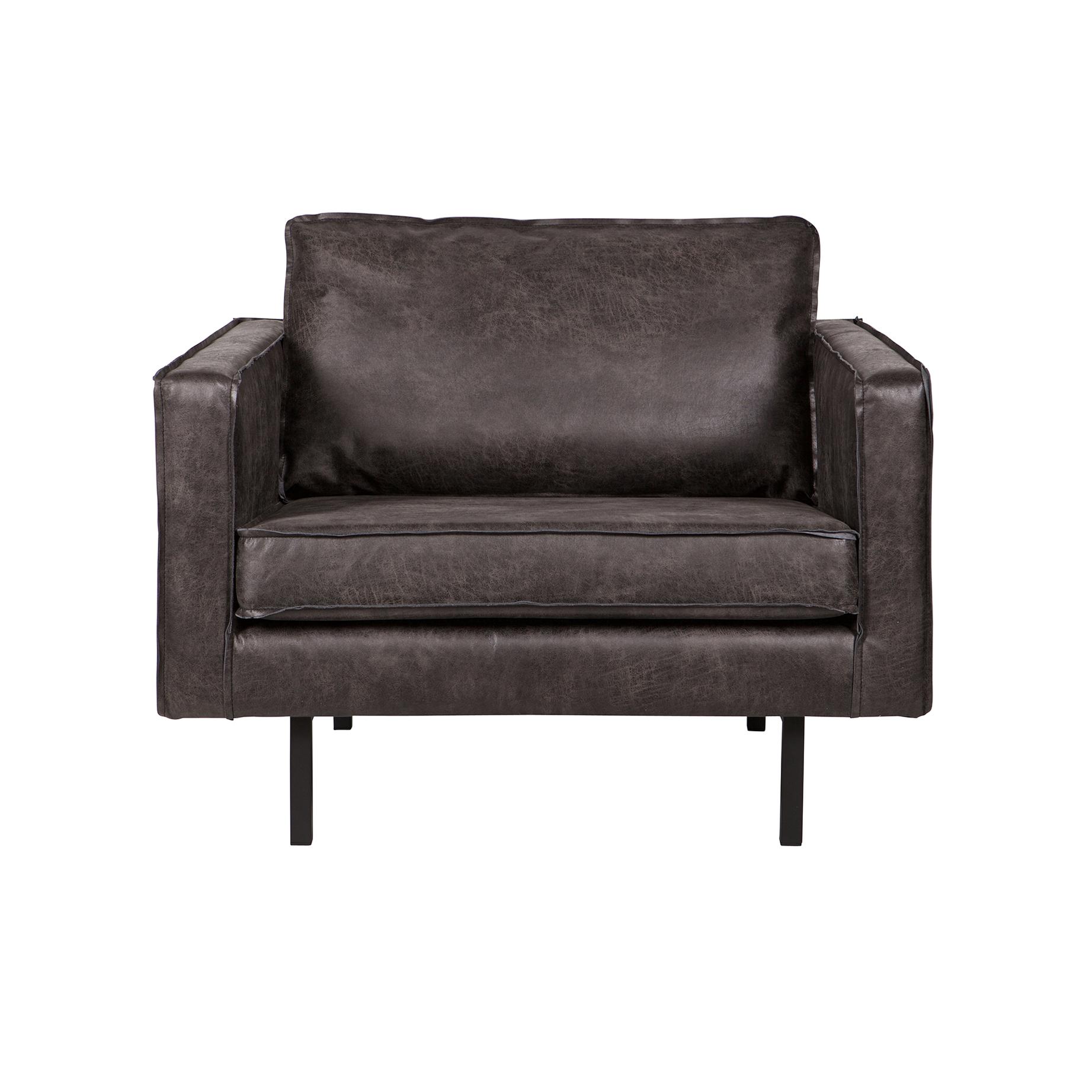 BePureHome Fauteuil 'Rodeo', kleur zwart Zitmeubelen | Fauteuils kopen