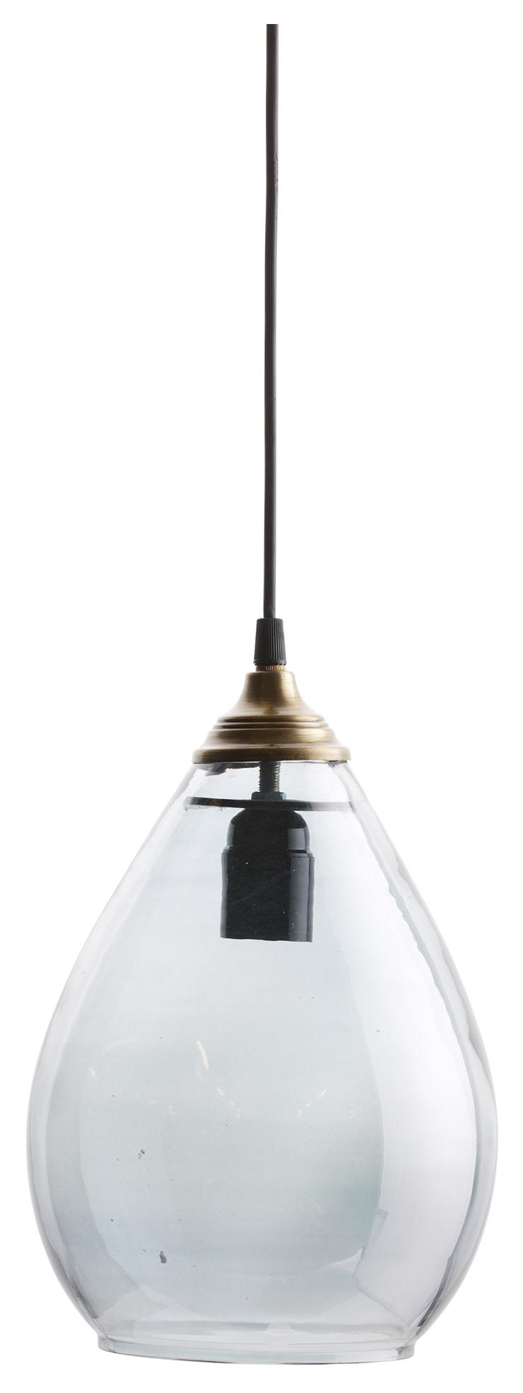 BePureHome Hanglamp 'Simple' Glas Large, kleur Grijs Verlichting | Hanglampen kopen