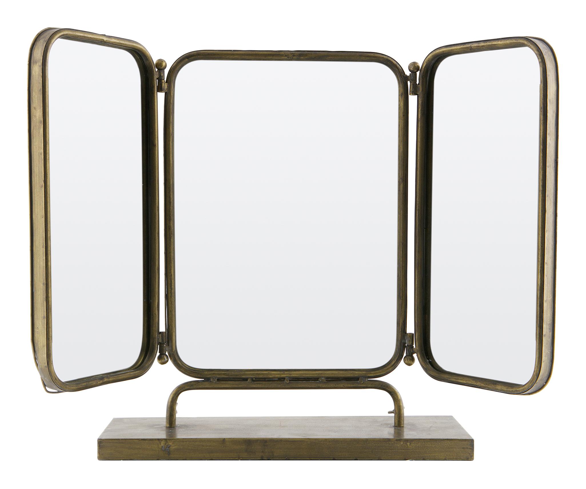BePureHome Spiegel 'Anonymous' kleur Antique Brass Woonaccessoires | Spiegels kopen