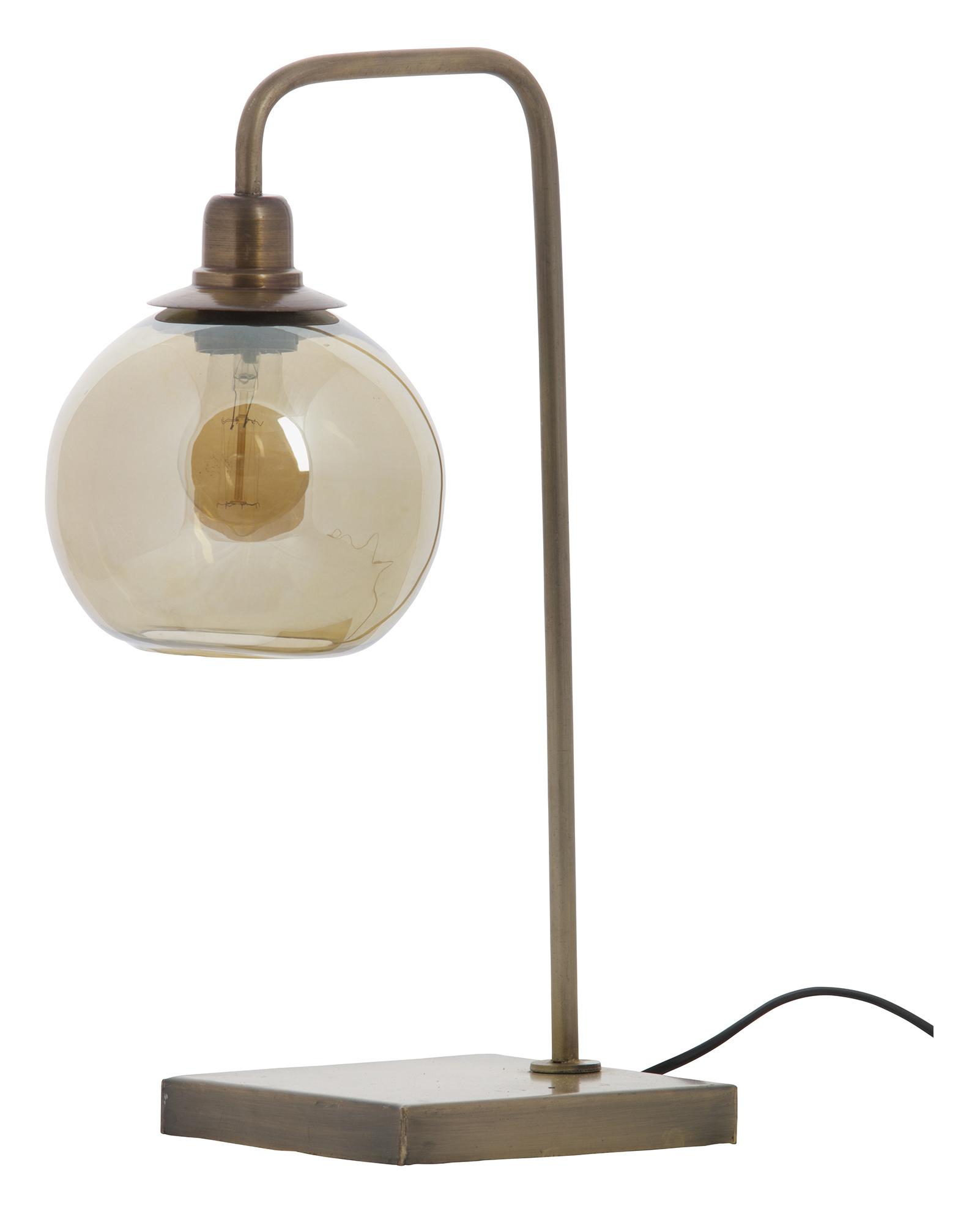 BePureHome Tafellamp 'Lantern', kleur Antique Brass Verlichting | Tafellampen kopen