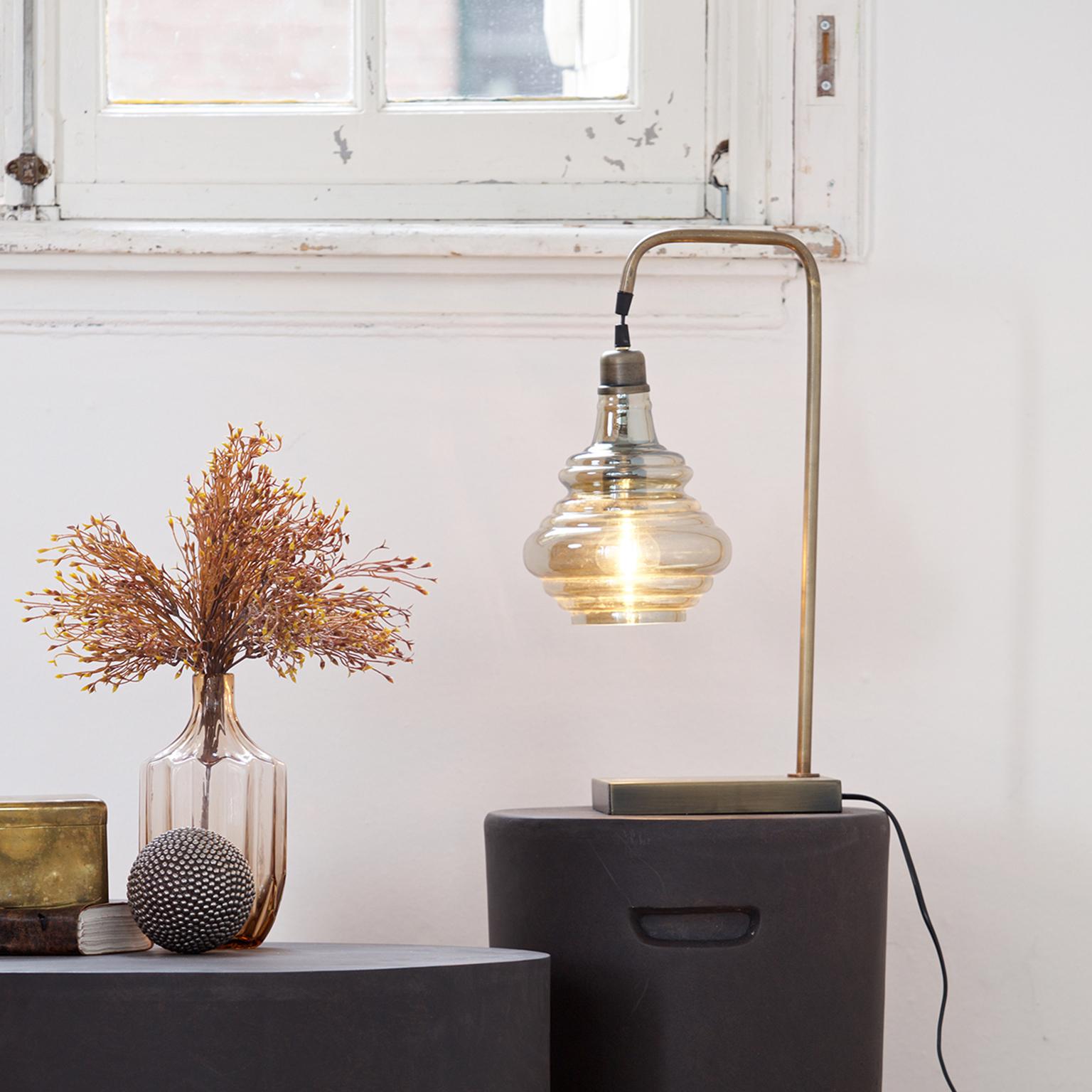 BePureHome Tafellamp 'Obvious', kleur Antique Brass Verlichting | Tafellampen kopen