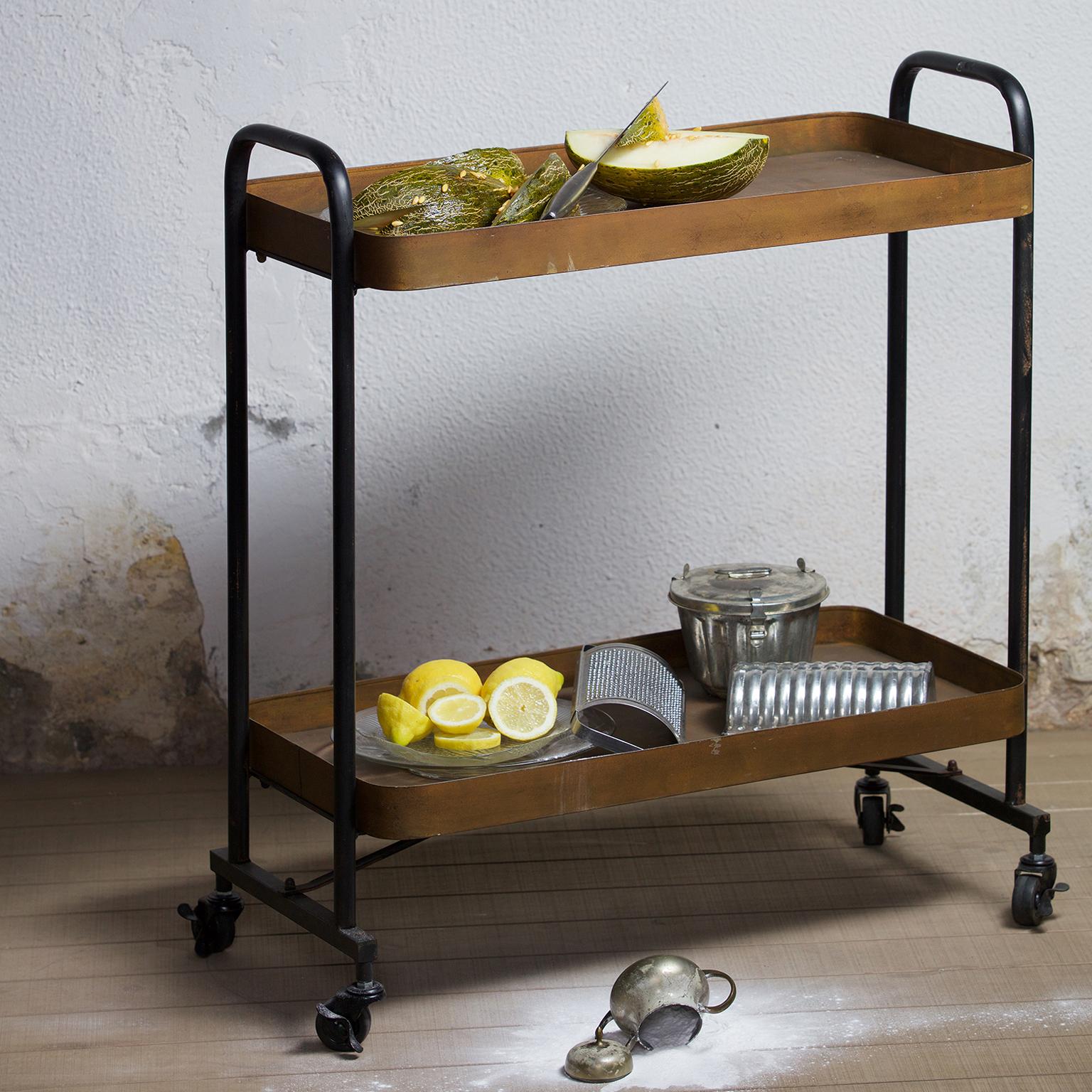 BePureHome Trolley 'Rusty' 83 x 91,5cm, kleur Roest met voordeel snel in huis via Meubel Partner