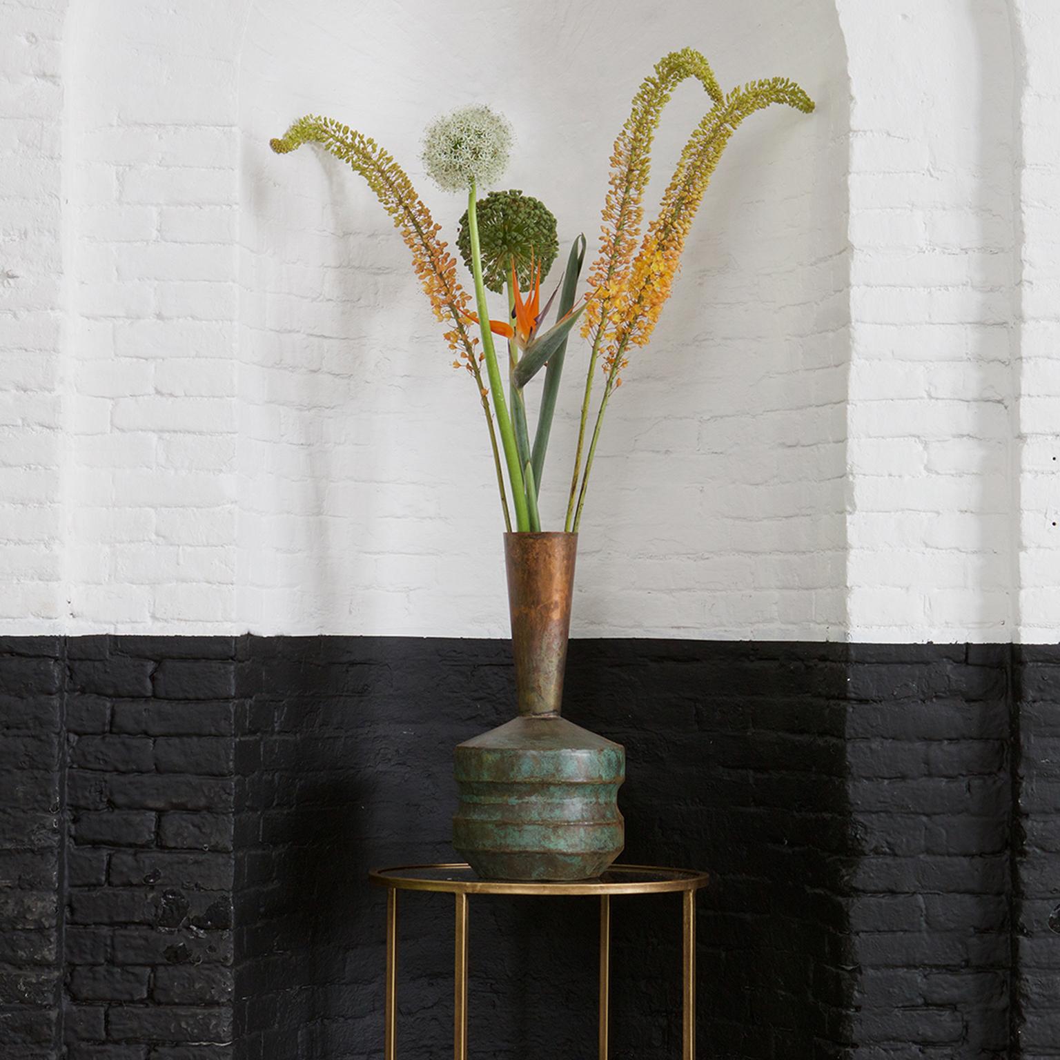 BePureHome Vaas 'Chimney', kleur Antique Copper met voordeel snel in huis via Meubel Partner