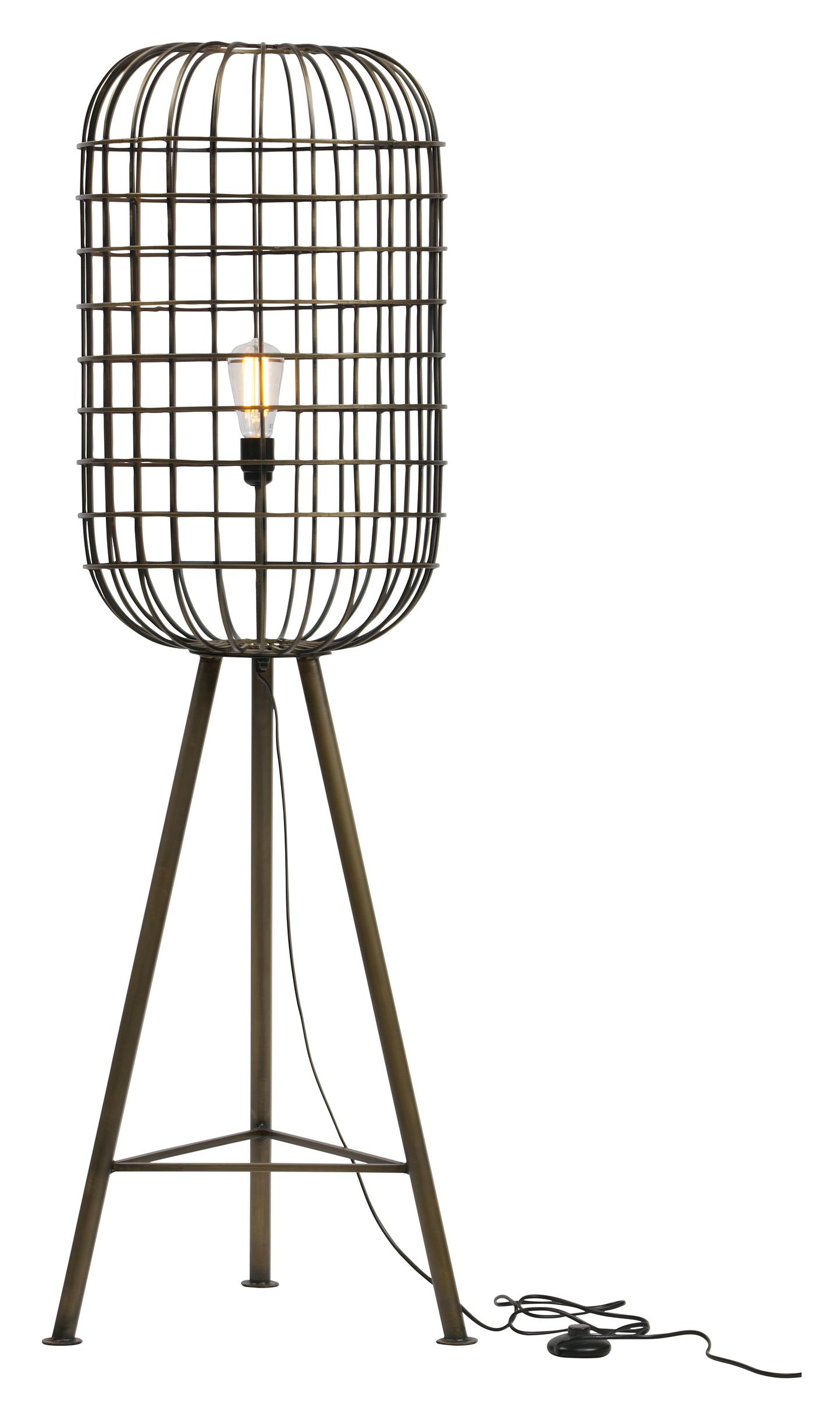 BePureHome Vloerlamp 'Hurricane', kleur Antique Brass Verlichting | Vloerlampen kopen