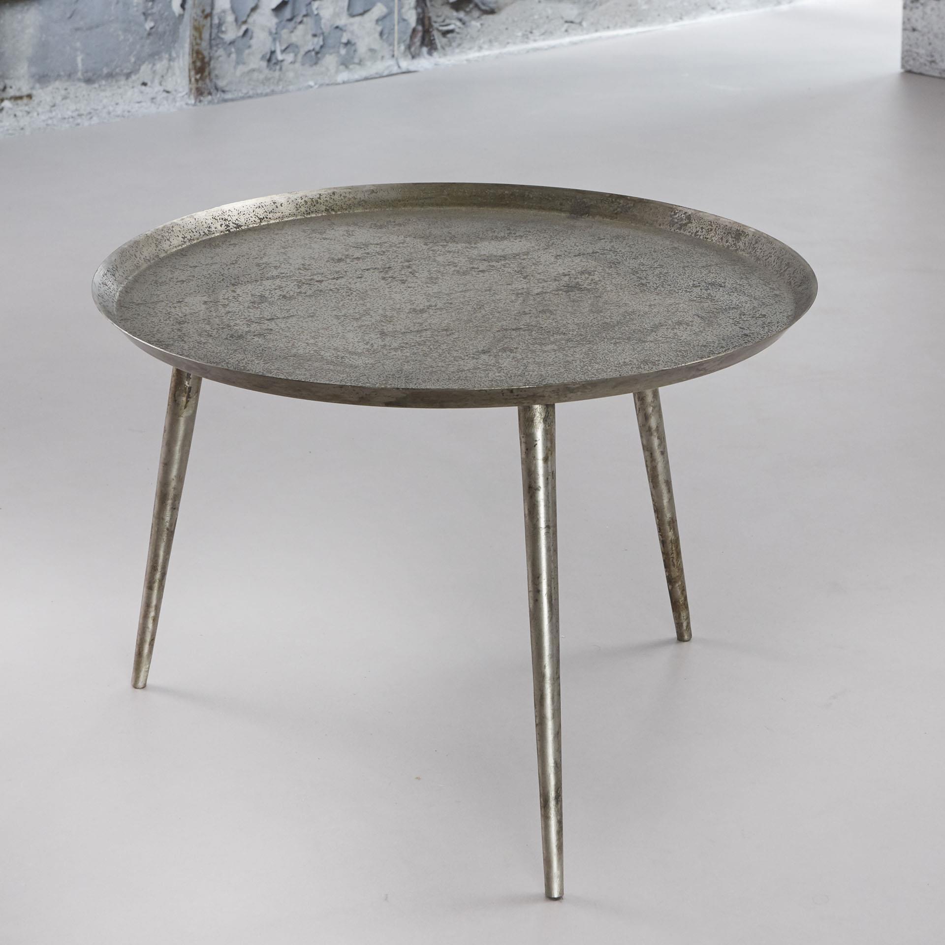Bijzettafel 'Rachel' 57cm, kleur antiek zilver