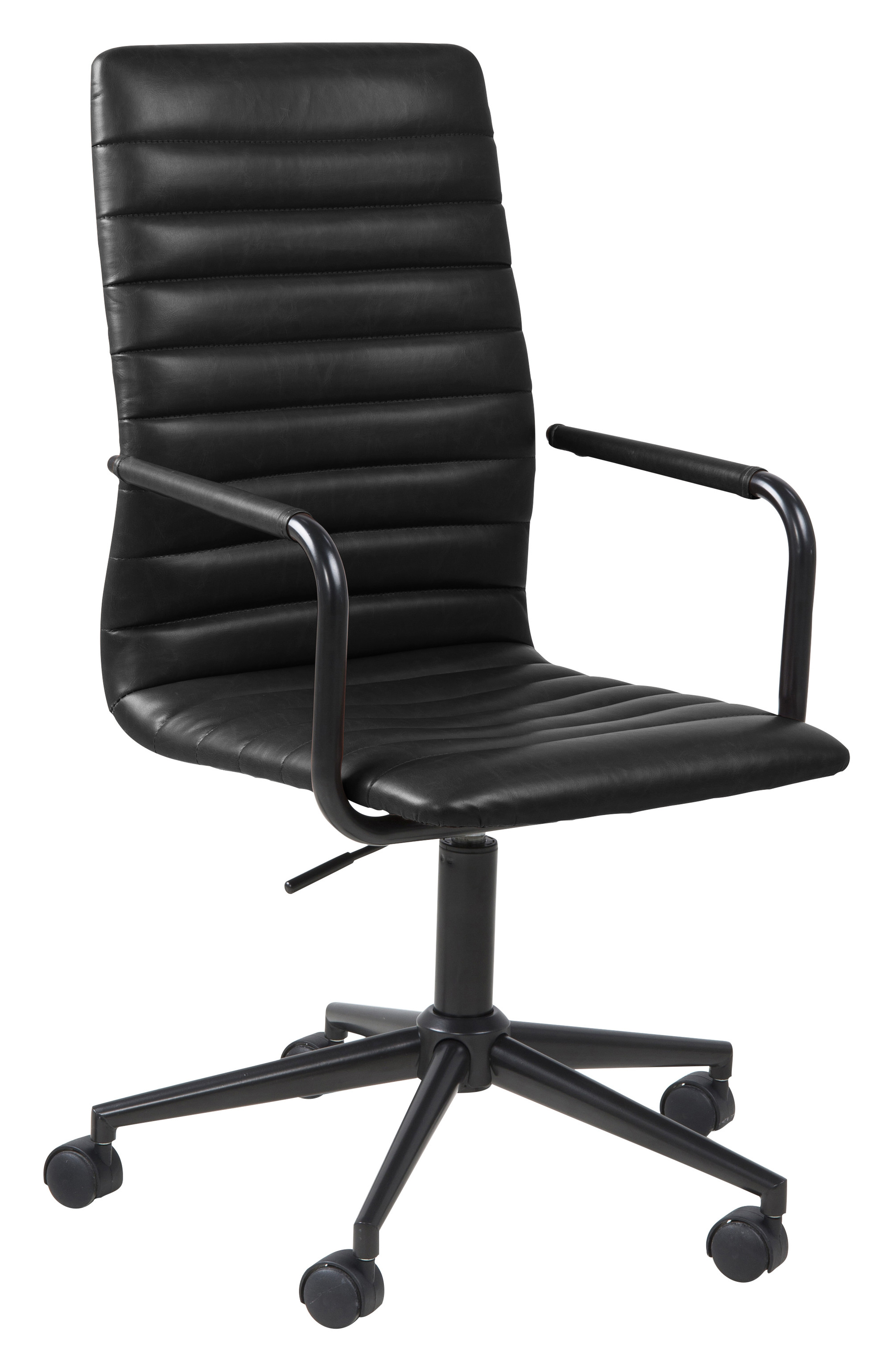 Fijne Zwarte Bureaustoel.Bendt Bureaustoel Maria Pu Leder