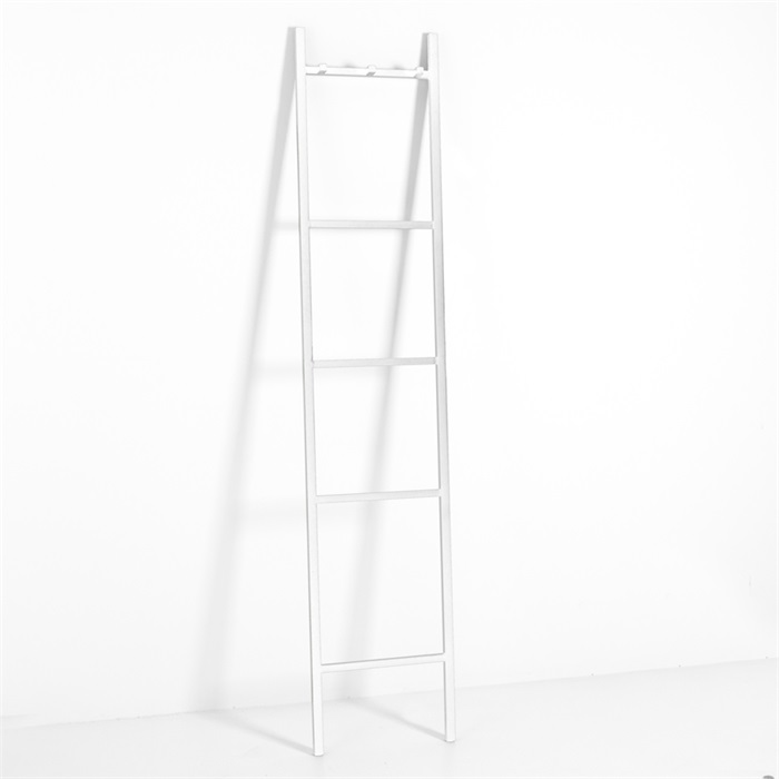 By-Boo Decoratie ladder 'Bookmark XL', kleur wit