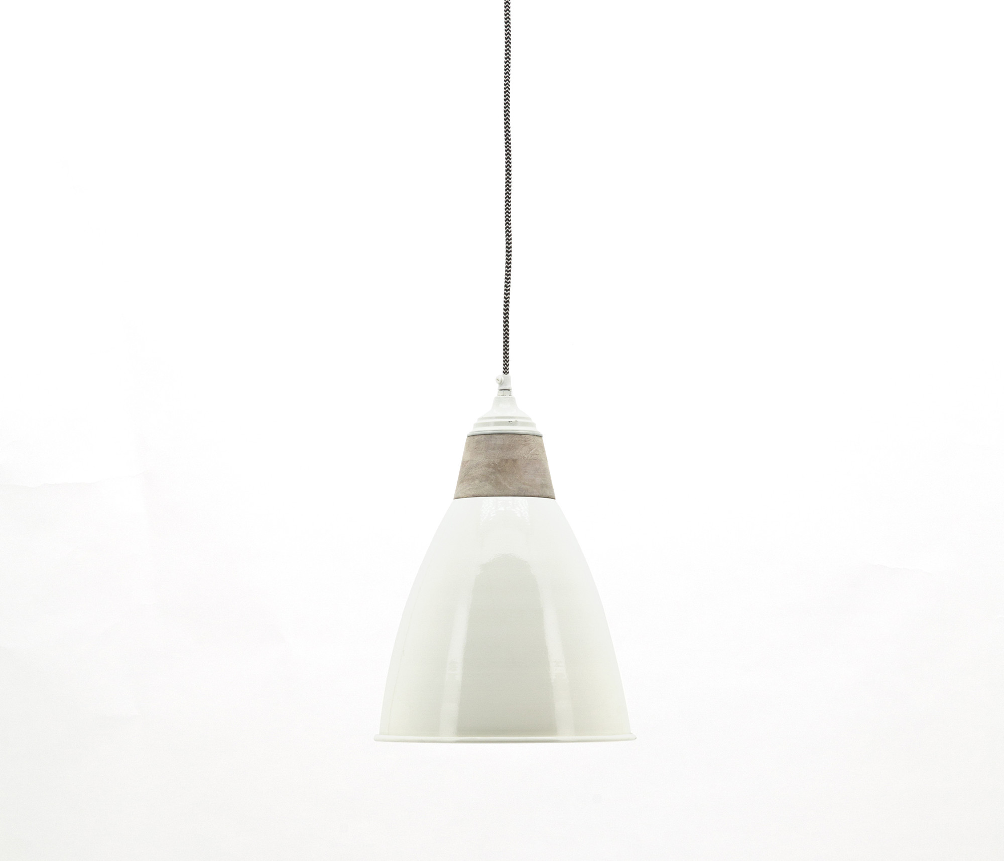 By-Boo lamp 'Tango' ivory/wood