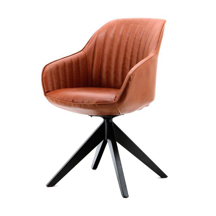 Uw partner in meubels: Eetkamerstoel 'Jules' PU-leder, kleur cognac Zitmeubelen | Eetkamerstoelen