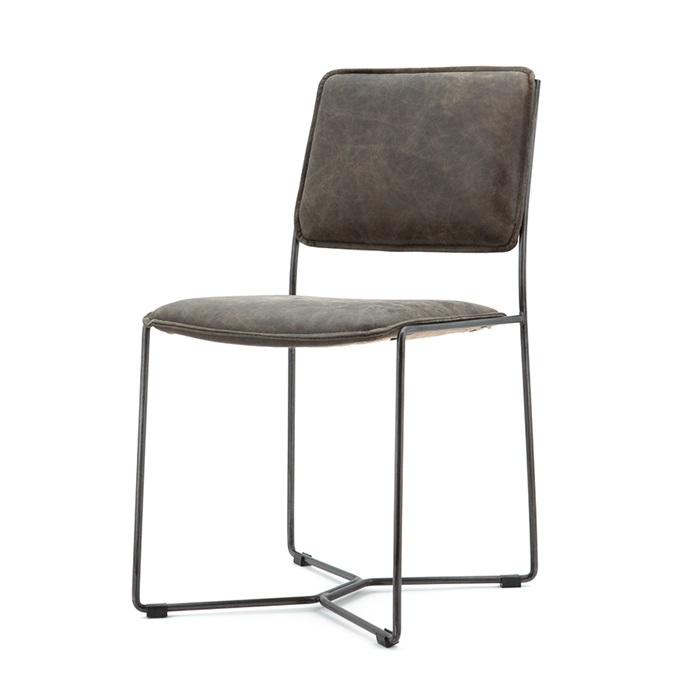 Uw partner in meubels: Eetkamerstoel 'Mees' vintage leder, kleur bruin Zitmeubelen | Eetkamerstoelen
