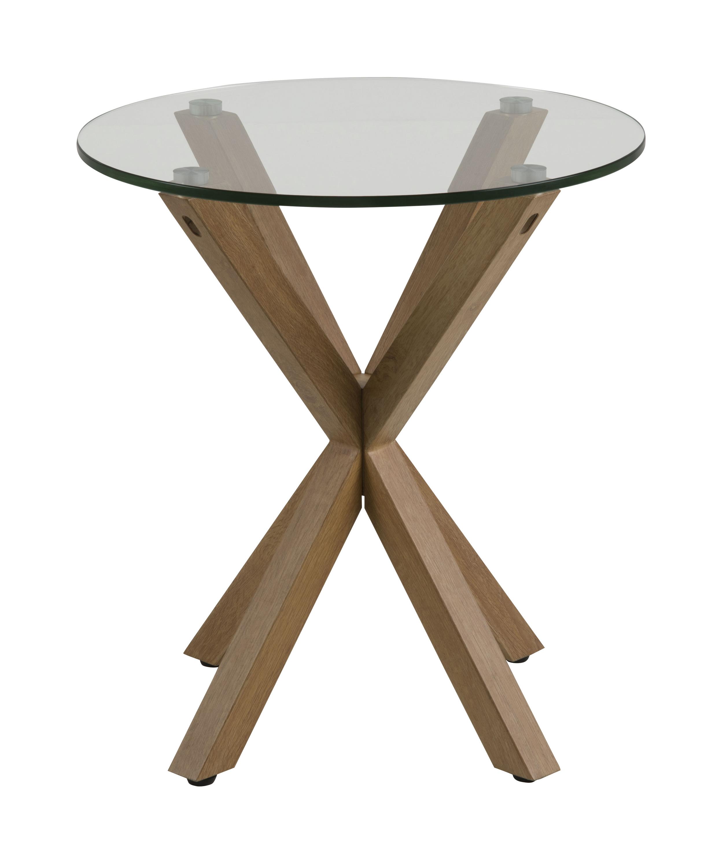 Uw partner in meubels: Bendt Glazen Bijzettafel 'Line' 50cm Tafels | Bijzettafels
