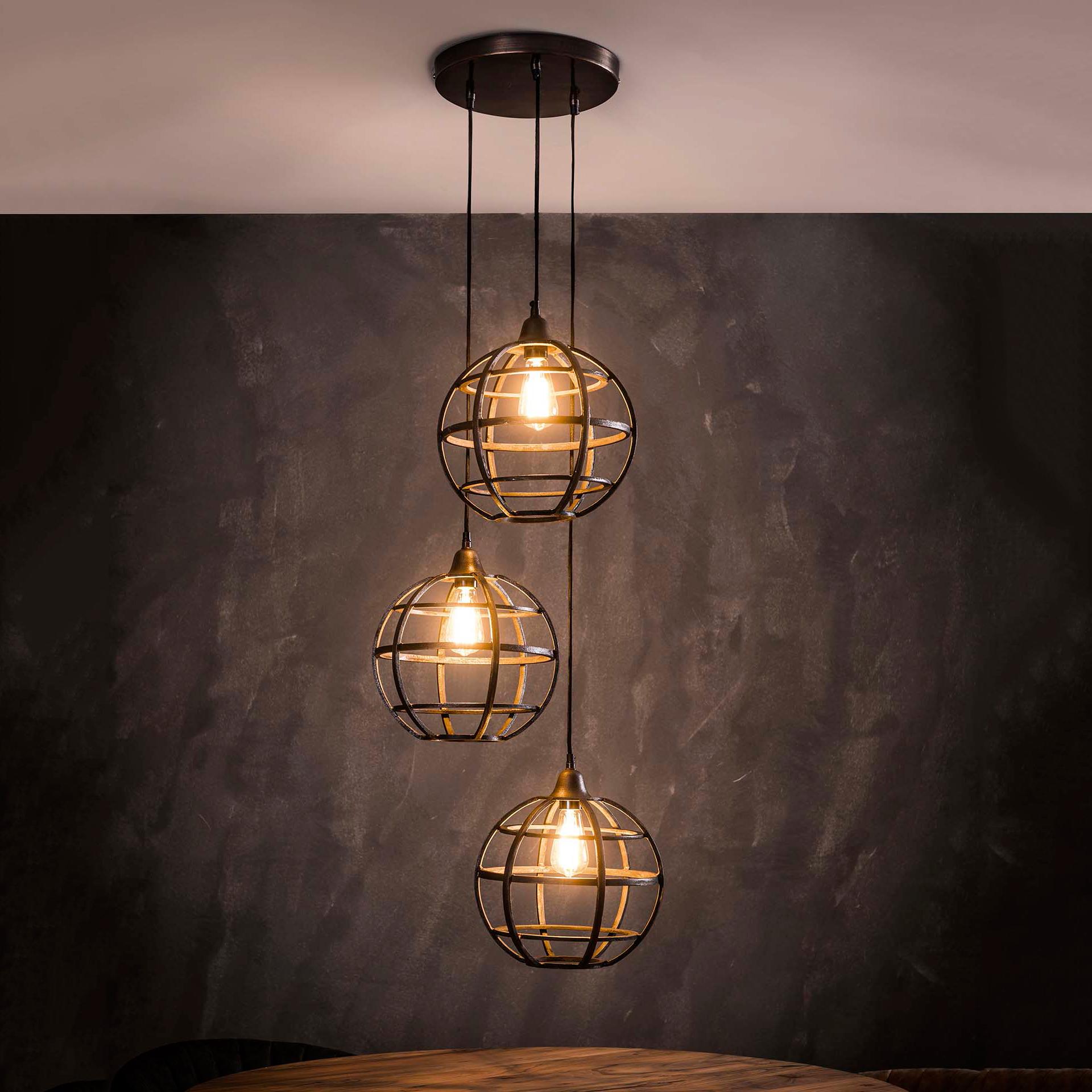 Hanglamp 'Tatsuya' 3-lamps, Ø33 cm korting
