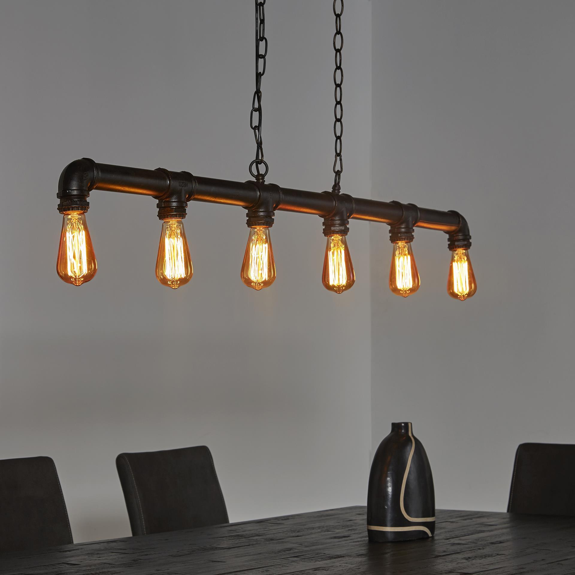 Industriële Hanglamp 'Brock' 6-lamps