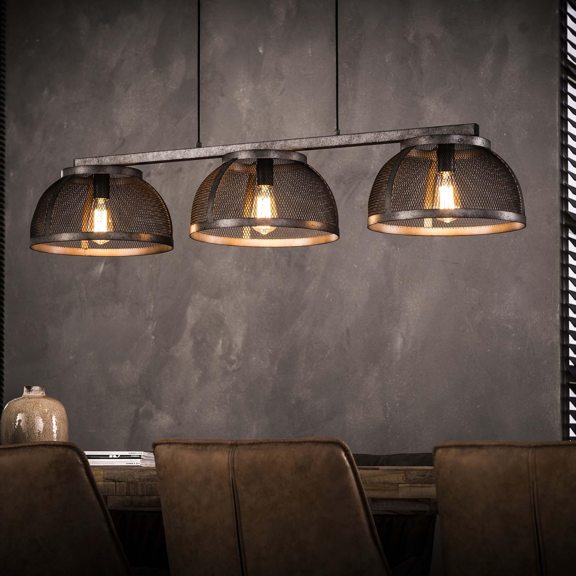 Industriële Hanglamp 'Lee' 3-lamps Ø35cm Verlichting | Hanglampen kopen