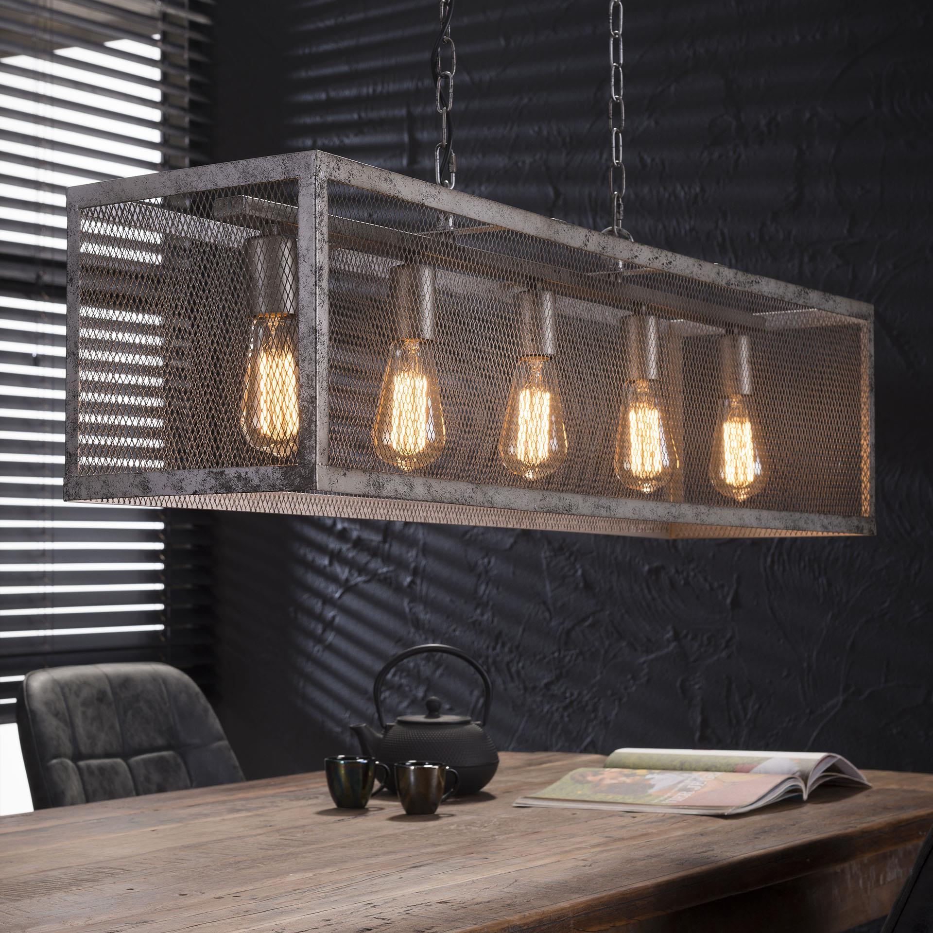 Industriële Hanglamp 'Matt' 5-lamps Verlichting | Hanglampen kopen
