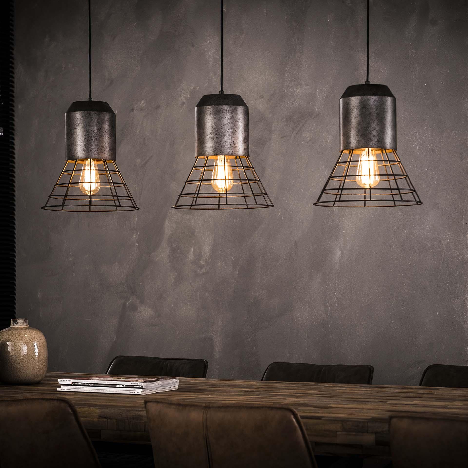 Industriële Hanglamp 'Penelope' 3-lamps Verlichting | Hanglampen kopen