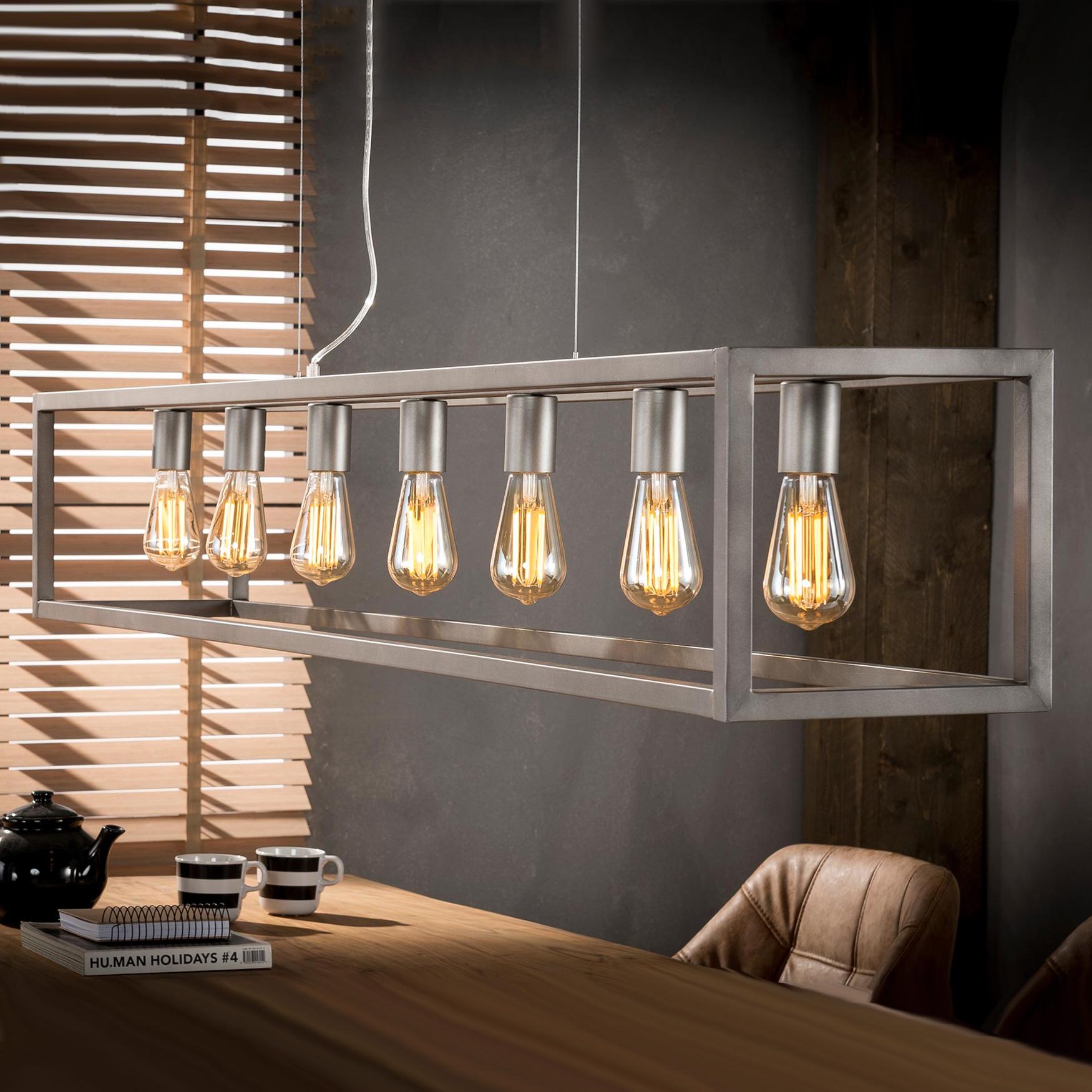 Industriële Hanglamp 'Terrance' 7-lamps korting