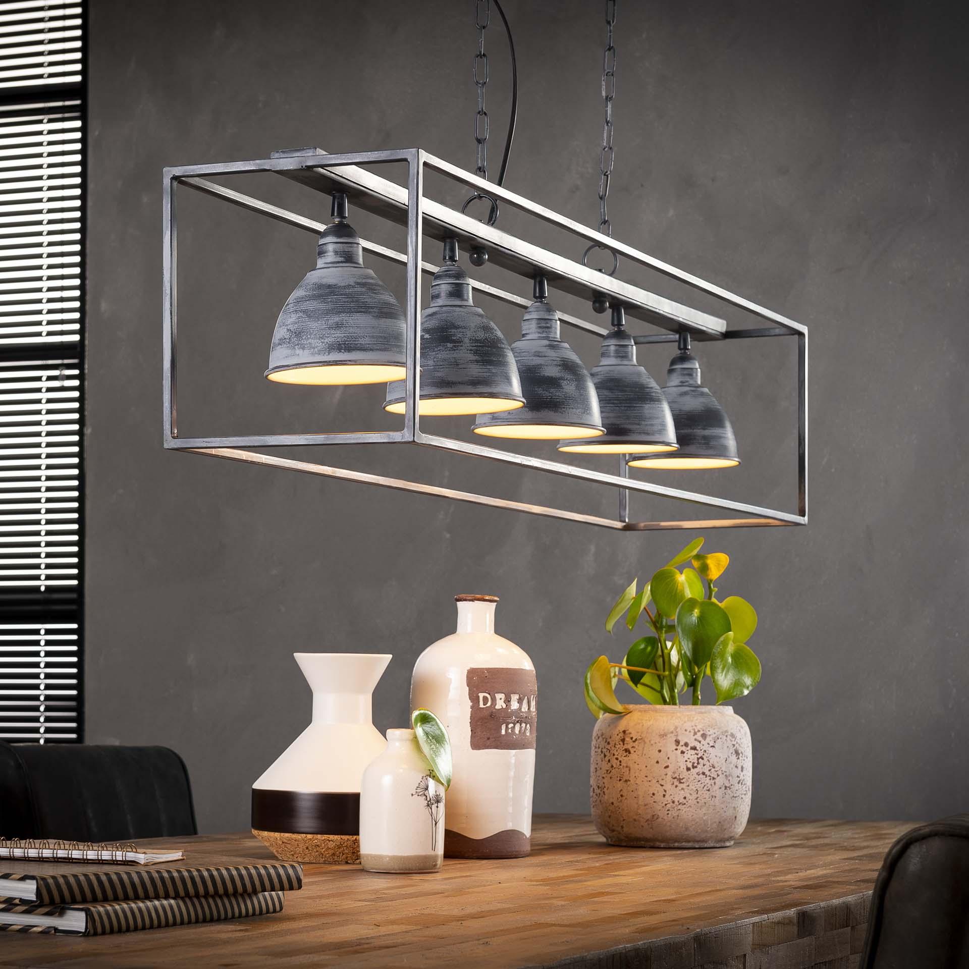 Industriële Hanglamp 'Wendell' 5-lamps Verlichting | Hanglampen kopen