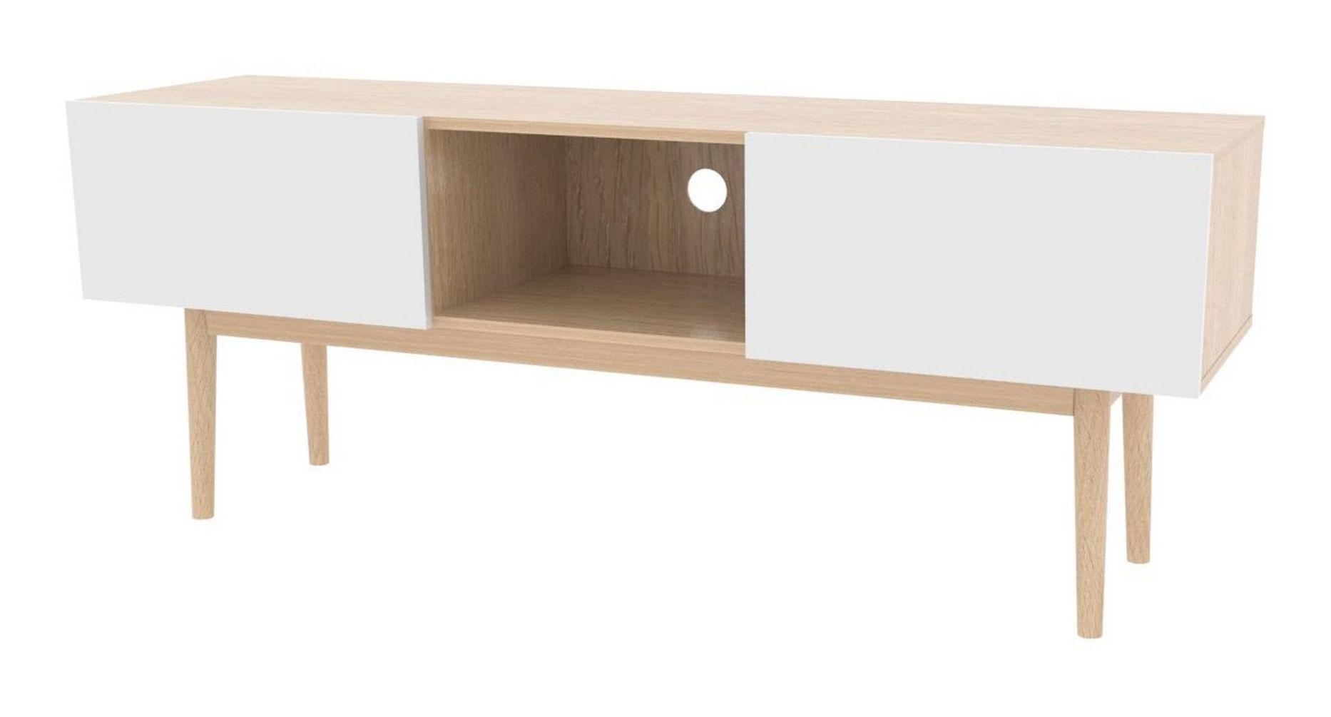 Interstil TV-meubel 'Bergen' 150cm, kleur eiken/wit Kasten   Tv-Meubels & Tv-Kasten kopen