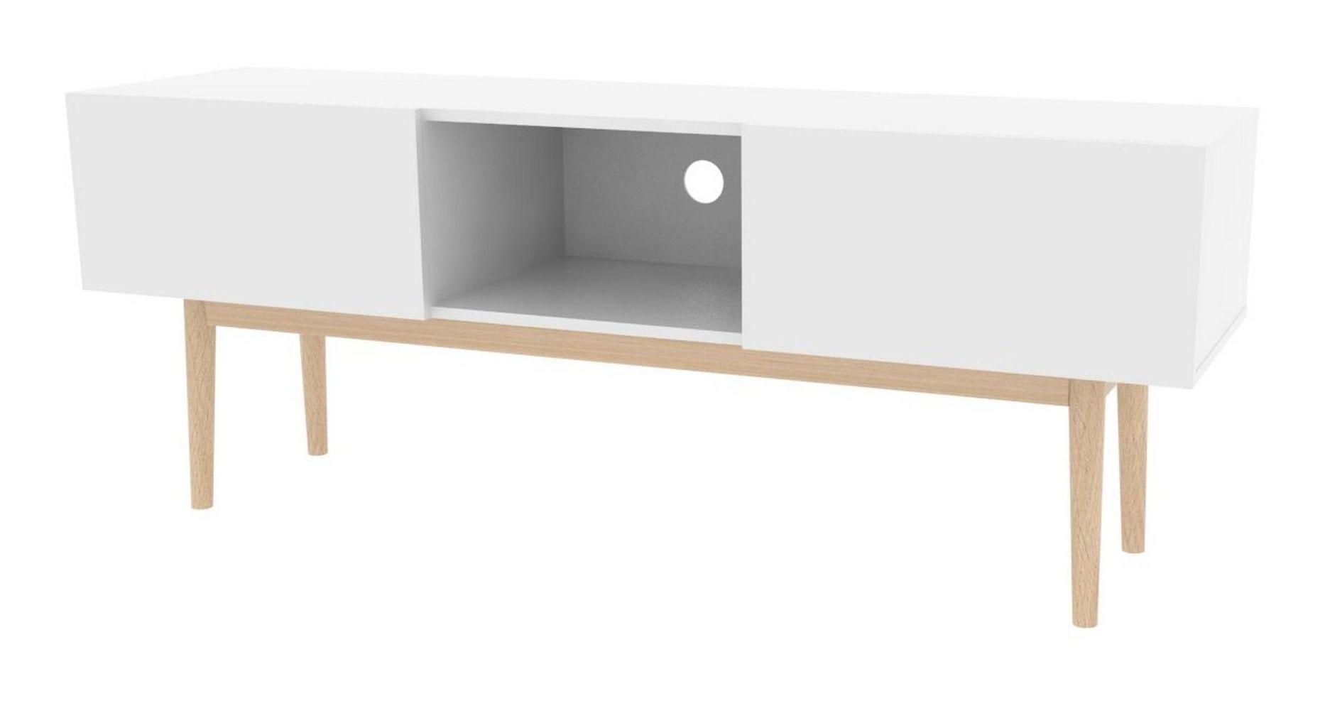 Interstil TV-meubel 'Bergen' 150cm, kleur wit Kasten   Tv-Meubels & Tv-Kasten kopen