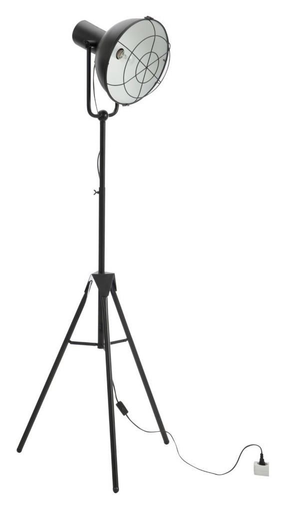 J-Line Vloerlamp 'Hendrina' 150cm hoog, kleur zwart