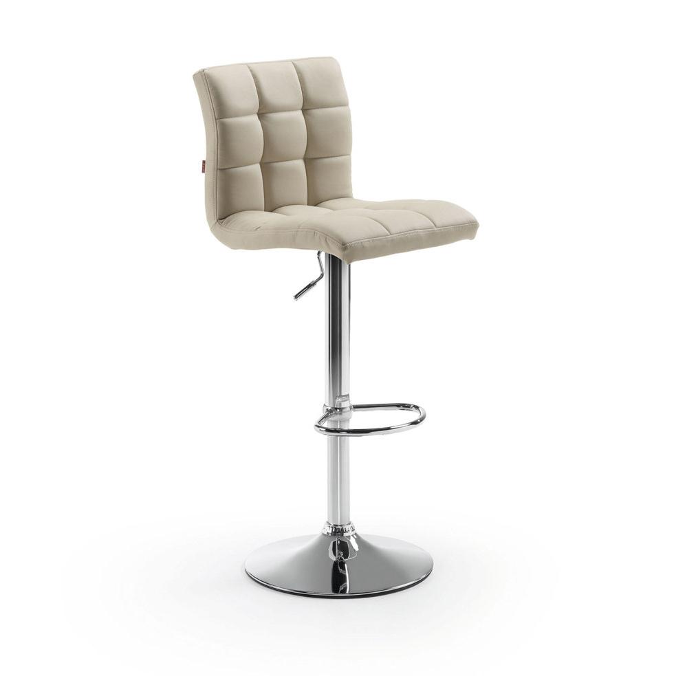 Kave Home Barkruk 'Crema' (zithoogte 60-81cm), kleur beige van Kave Home