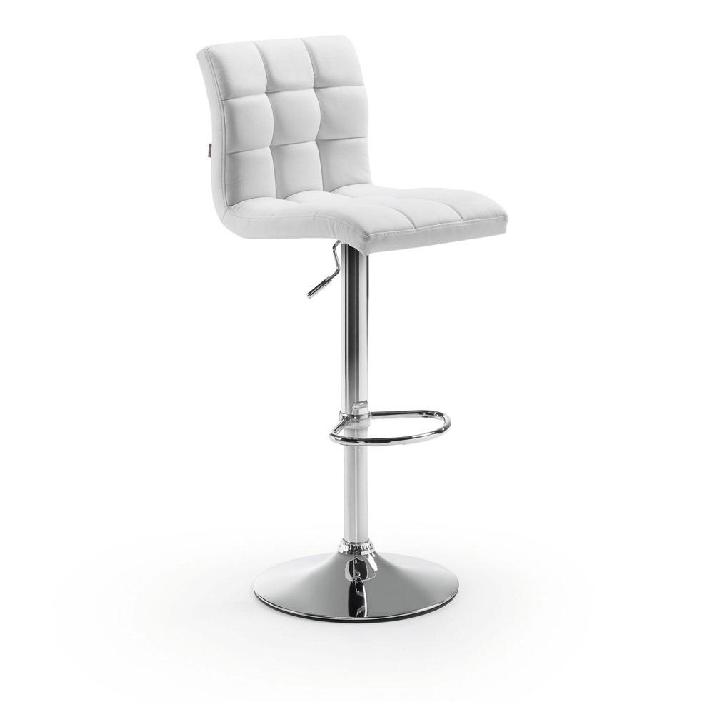 Kave Home Barkruk 'Crema' (zithoogte 60-81cm), kleur wit van Kave Home