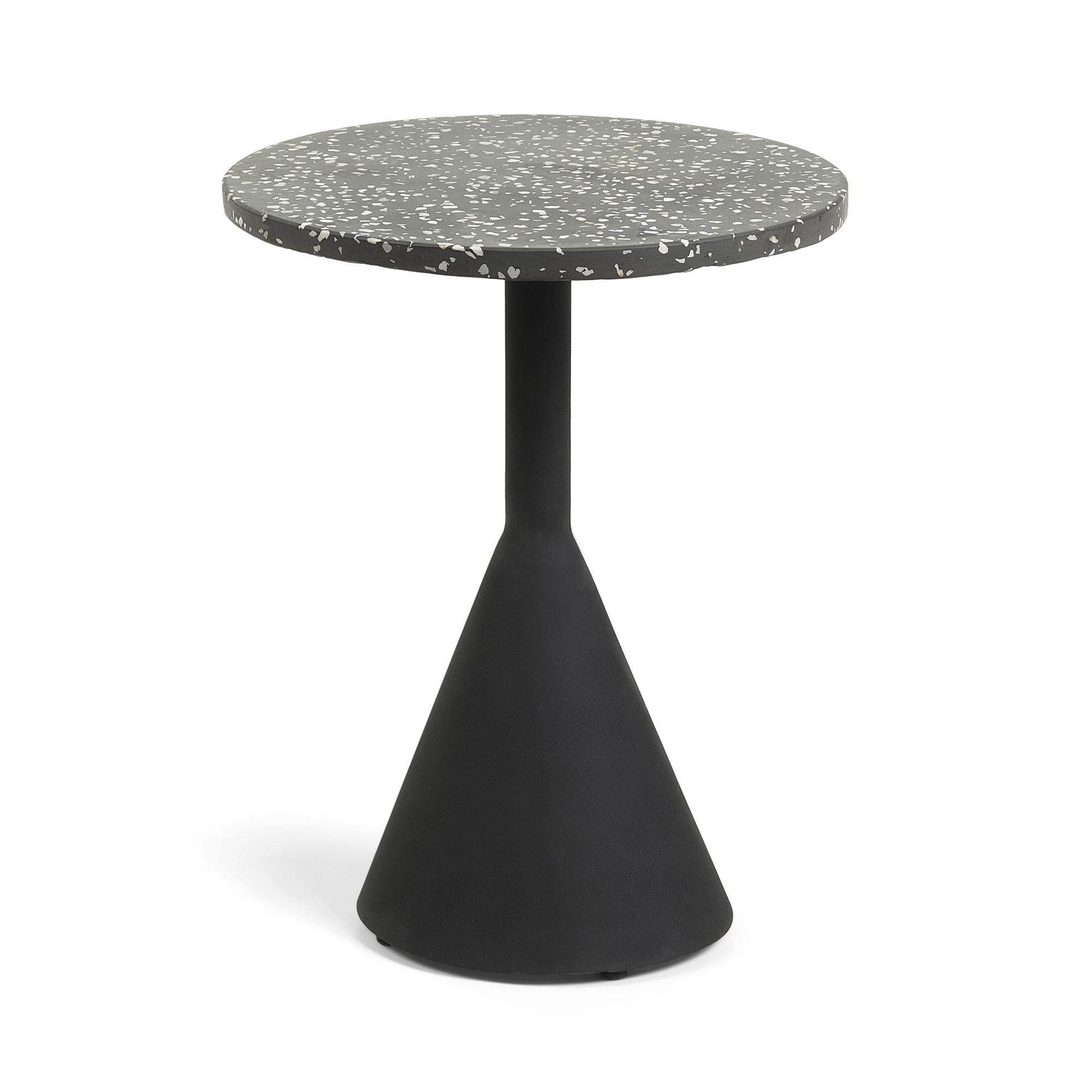 Uw partner in meubels: Kave Home Bijzettafel 'Delano' 40cm, kleur Zwart Tafels | Bijzettafels