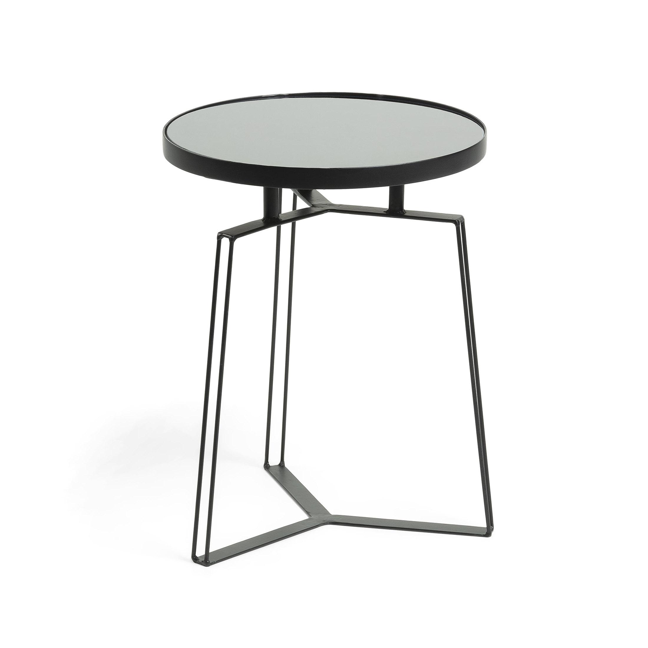 Uw partner in meubels: Kave Home Bijzettafel 'Radim' 40cm, kleur Zwart Tafels | Bijzettafels
