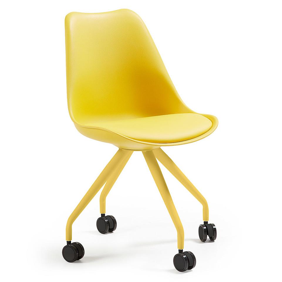 Kave Home Bureaustoel 'Ralf' kleur geel