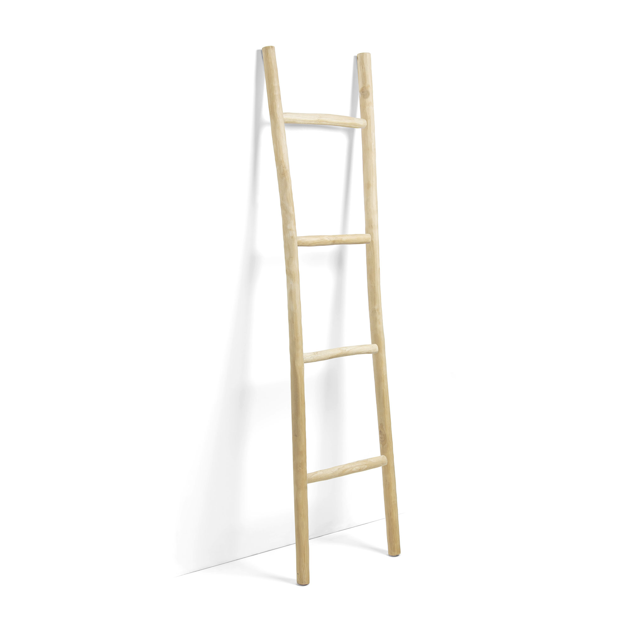 Kave Home Decoratie ladder 'Marge' Teak 190cm, kleur Naturel