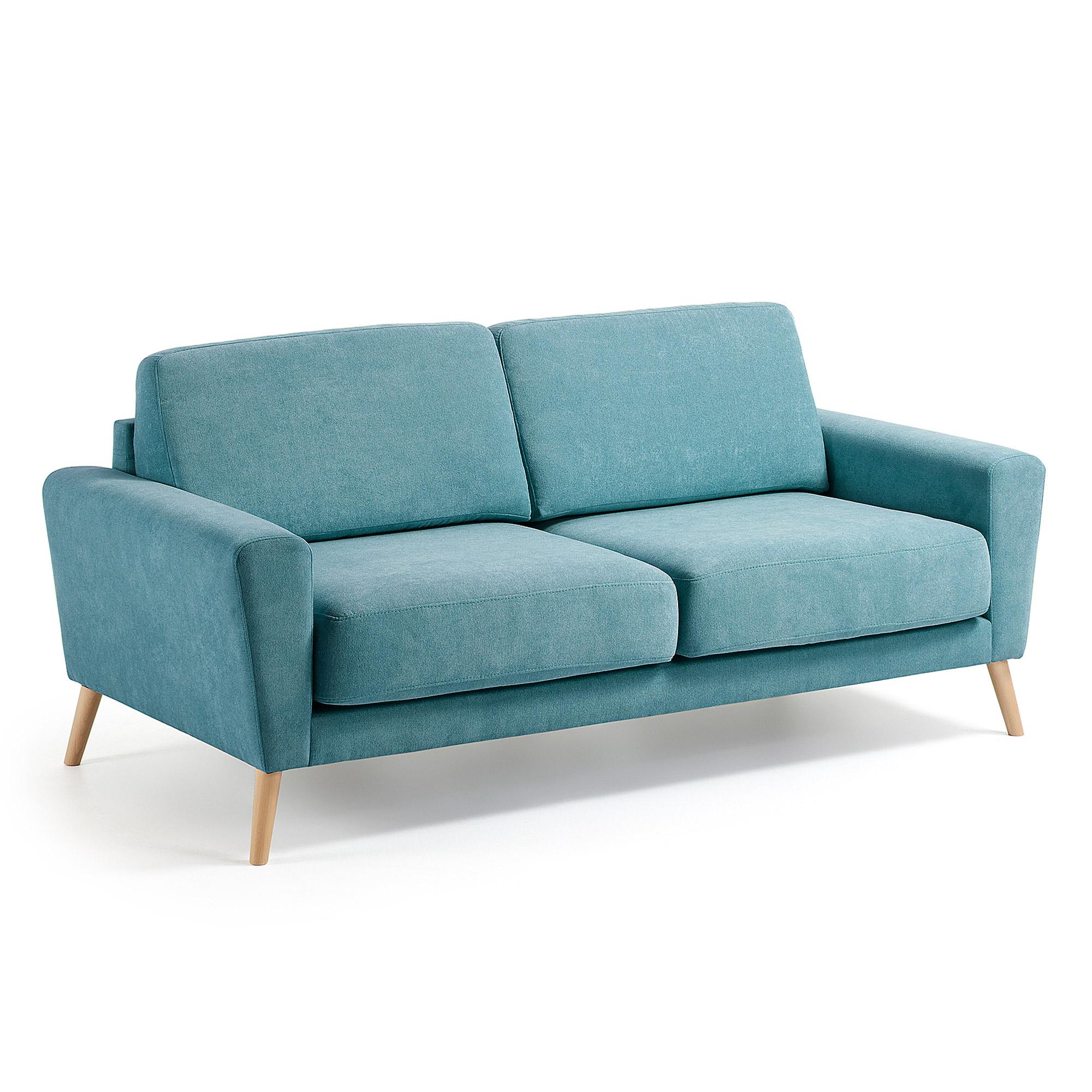 Kave Home driezitsbank 'Narnia', kleur turquoise Zitmeubelen | Bankstellen kopen