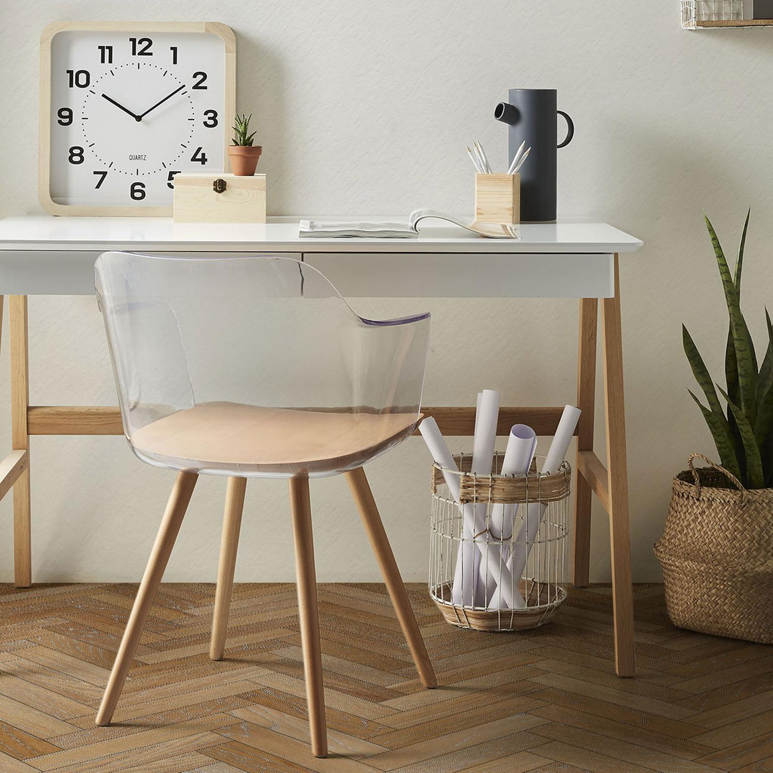 Kave Home Eetkamerstoel 'Bjorg', kleur Transparant