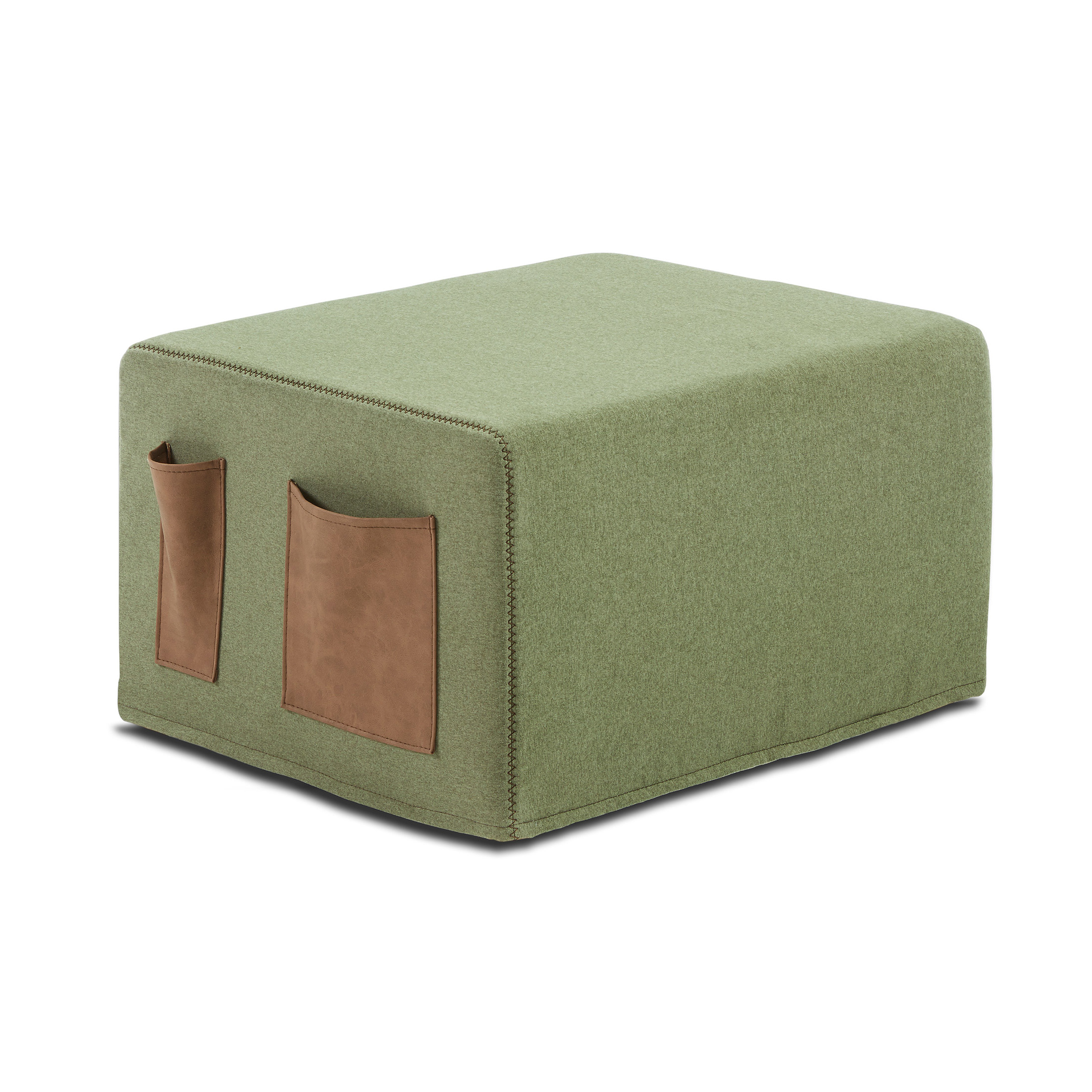 Kave Home Poef / vouwbed Verdi, kleur Groen