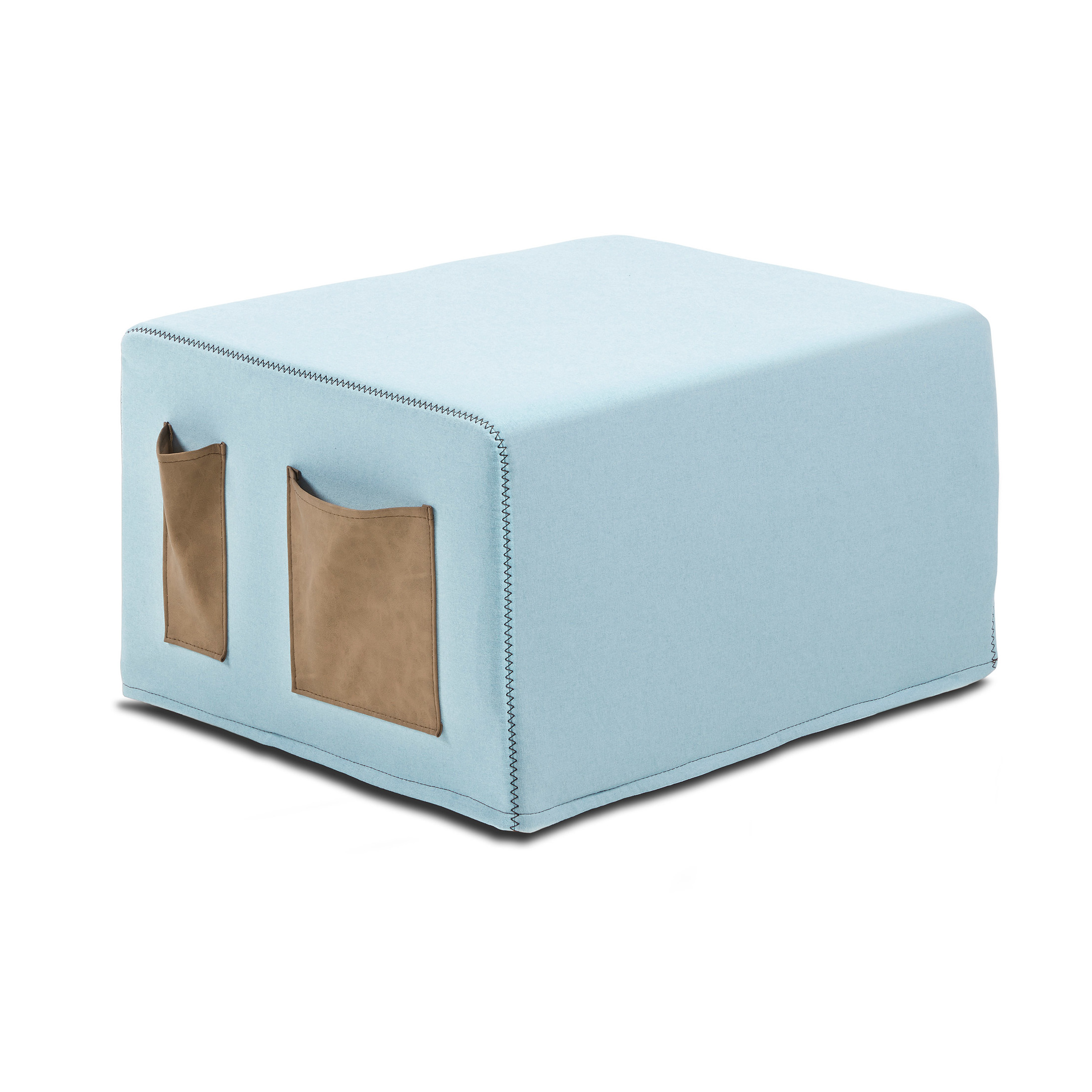 Kave Home Poef / vouwbed Verdi, kleur Lichtblauw